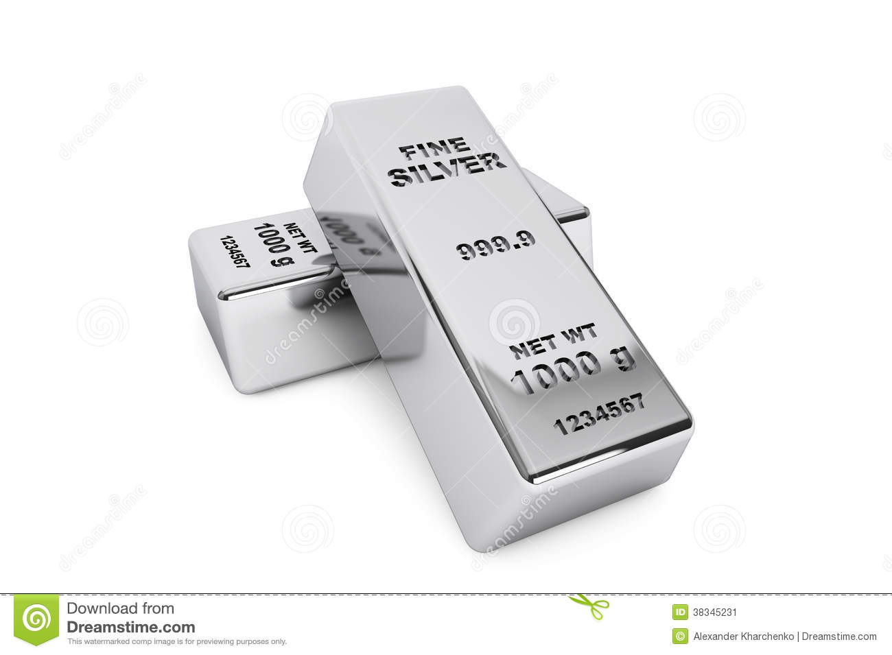 Bank Silver Bars stock illustration. Image of economy ...