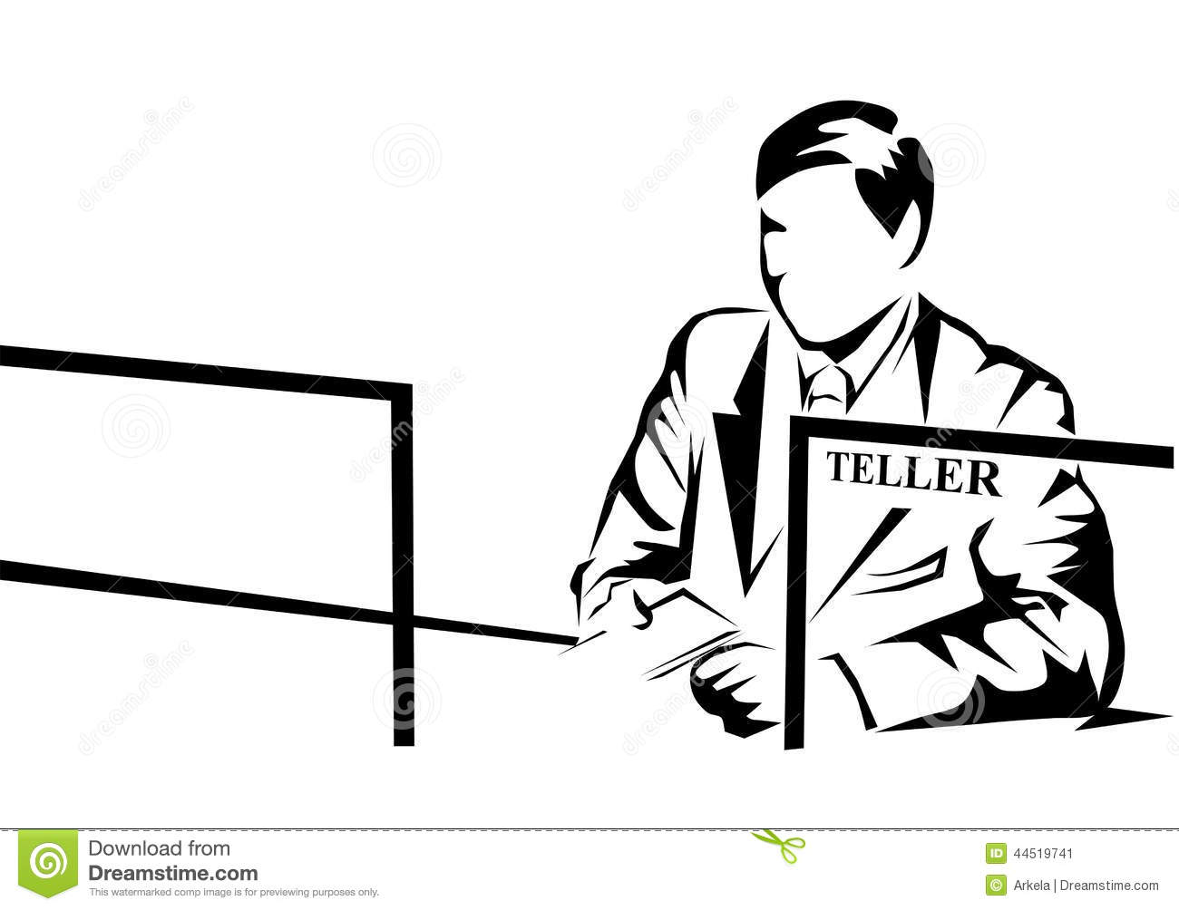 clipart bank teller - photo #28