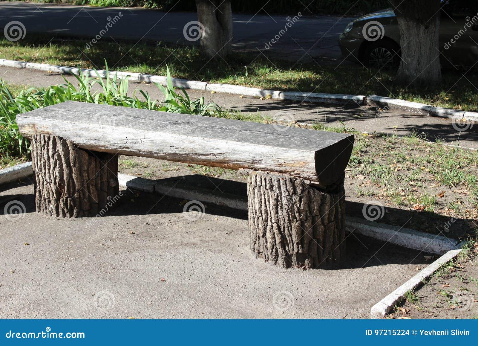 Bank van de boomstam van boom