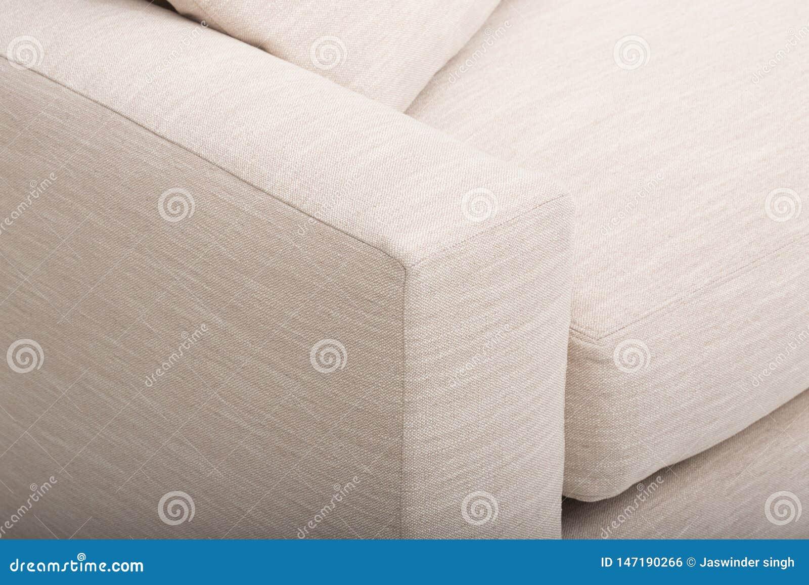 Bank van het zetels de comfortabele leer, 2 seater moderne bank in lichtgrijze stof, 2-Seat Bank, de Bank van het Veerkussen,