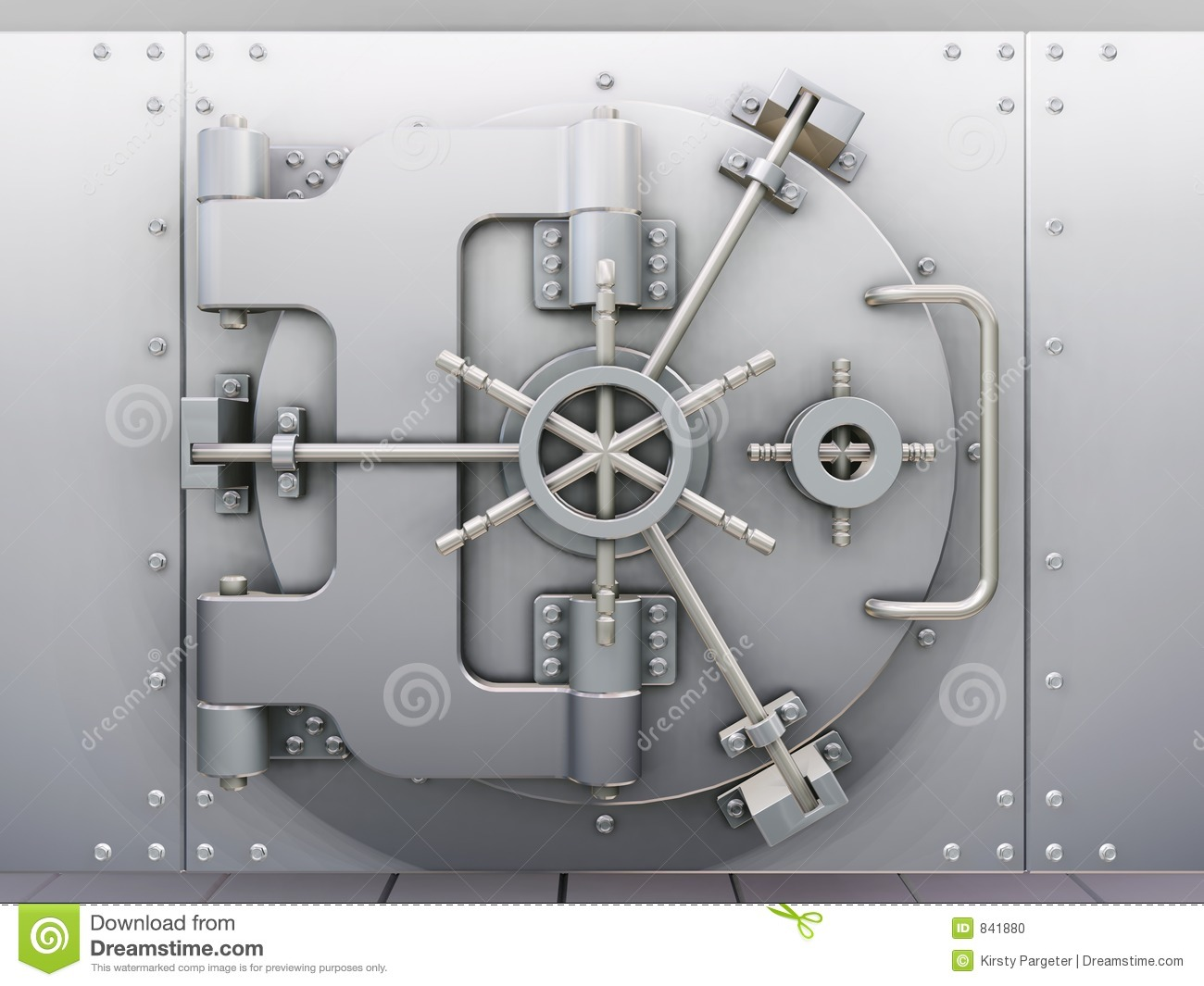 Bank Vault Stock Photo Image 841880