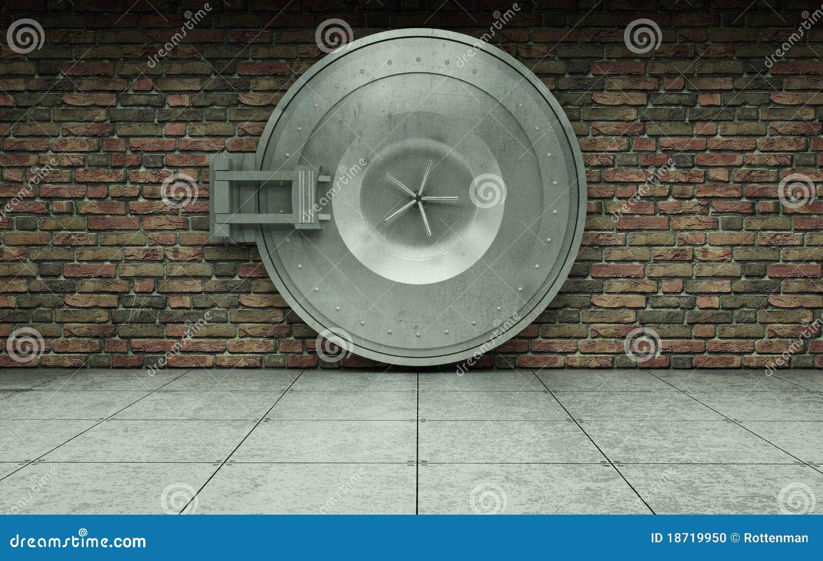 Bank Vault Door Stock Photo Image 18719950