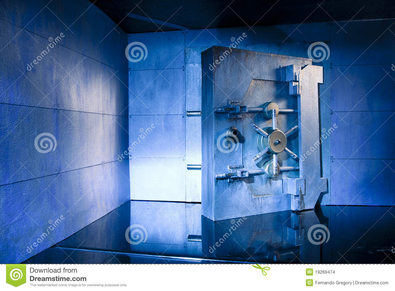 Bank Vault photo with copy space