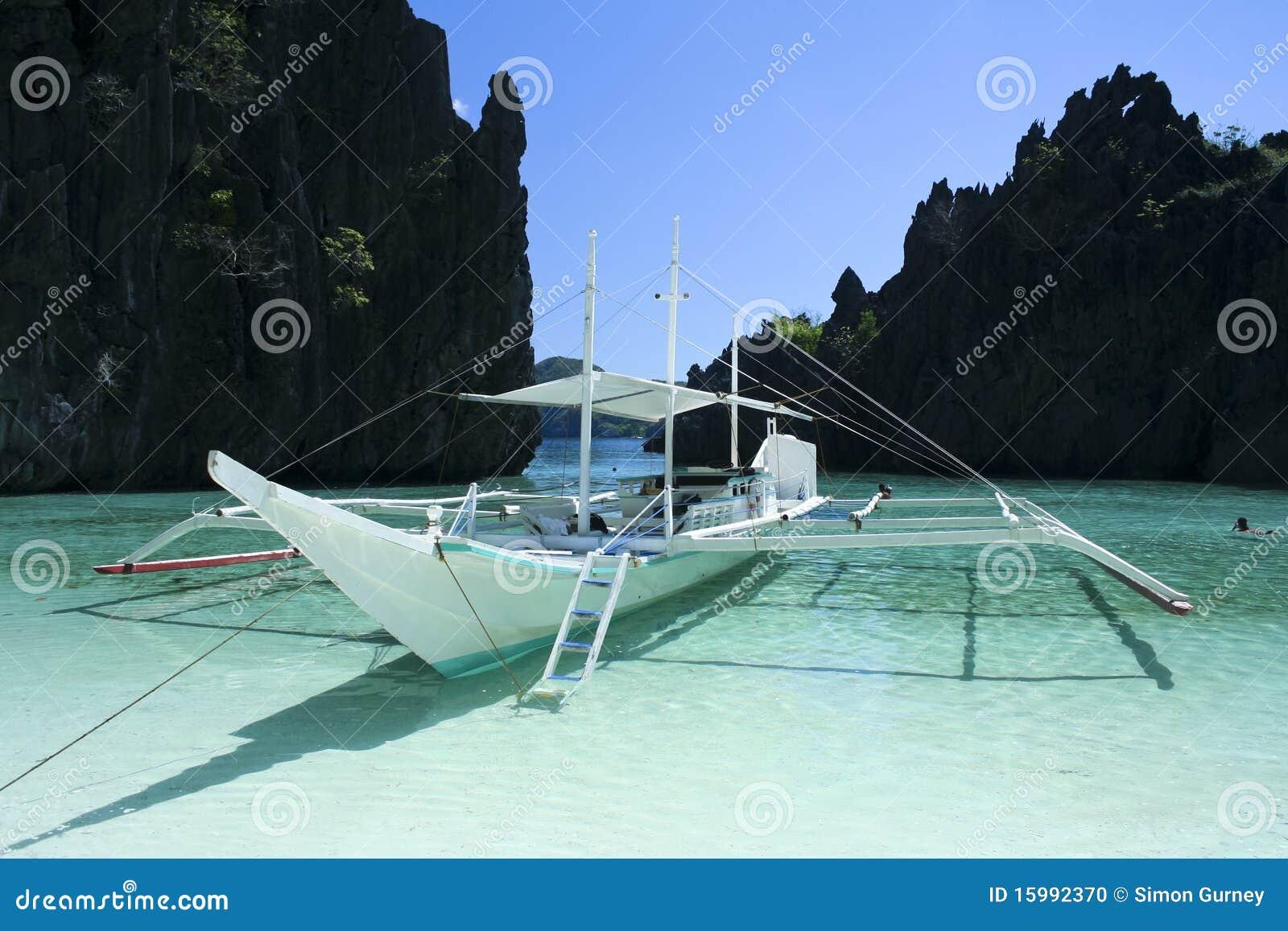 Banka azul Filipinas palawan da lagoa do nido do EL