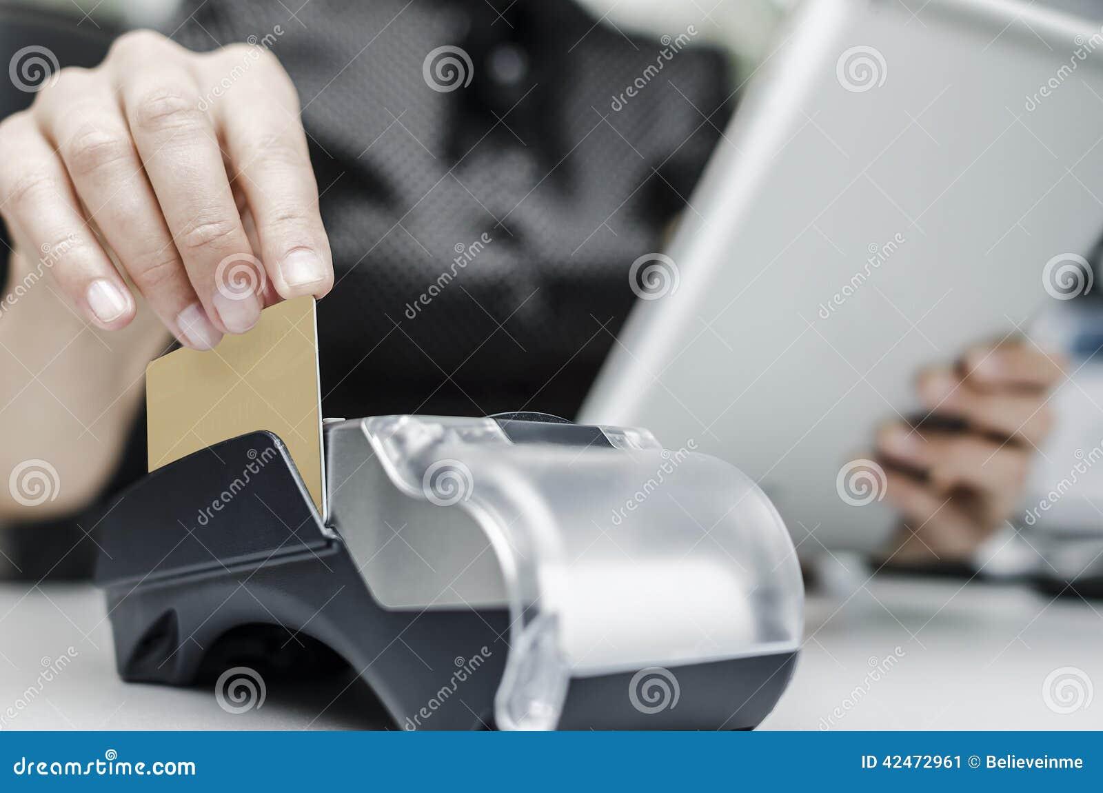 Bankanschluß und Tabletten-PC
