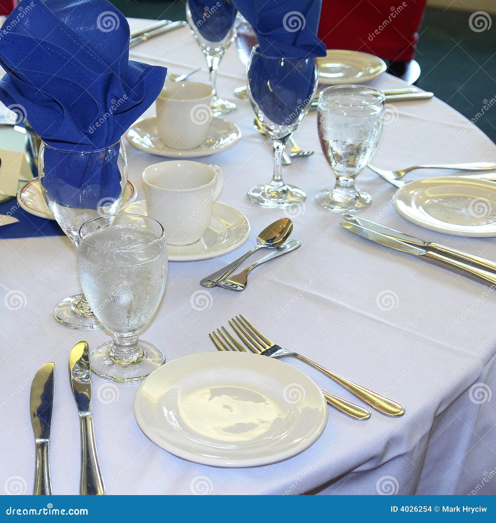 Bankett-Tabellen-formale Hochzeit