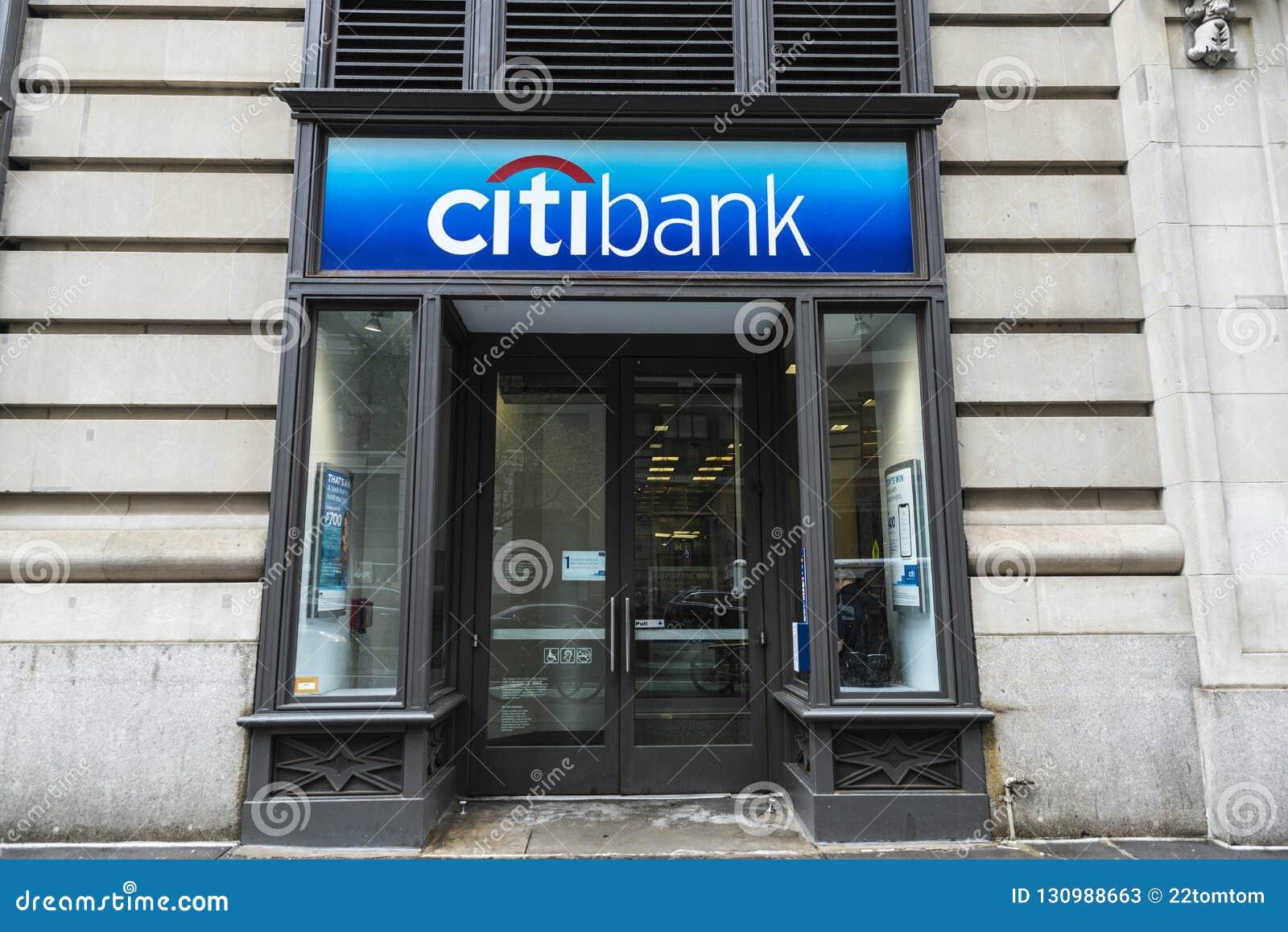 Bankfiliale Von Citibank In New York City, USA Redaktionelles