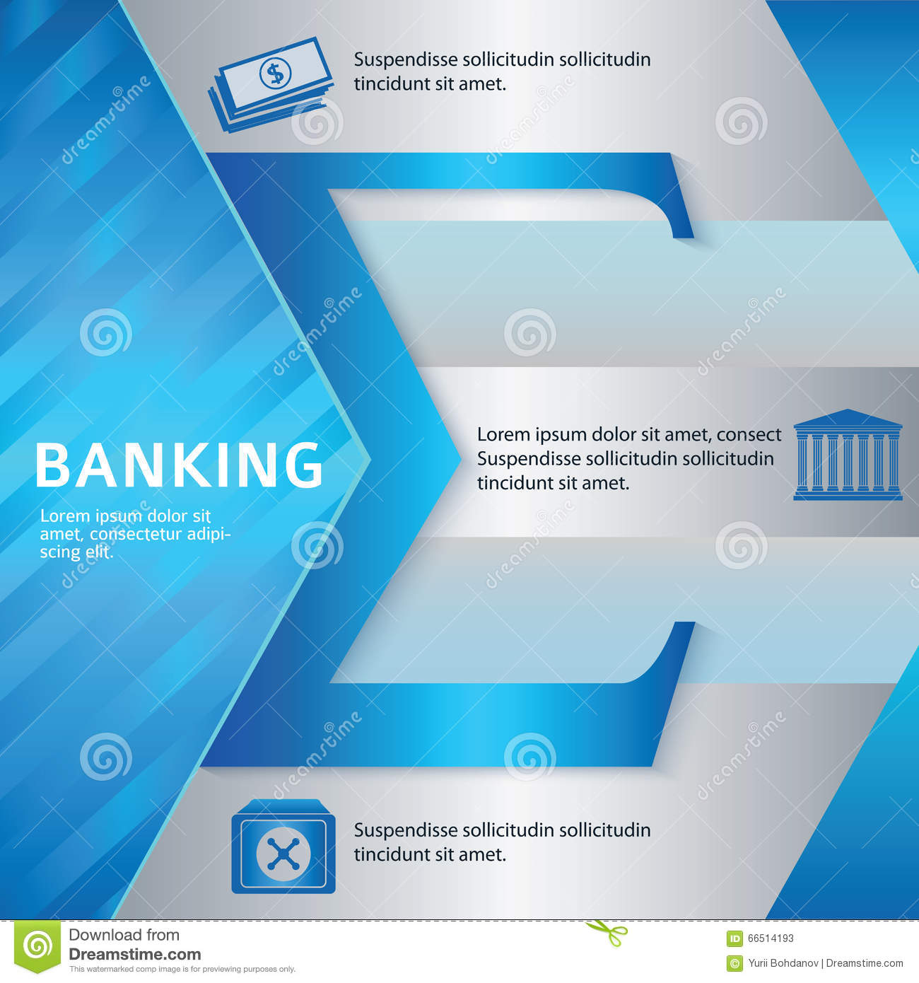 banking-brochure-template-business-style-presentation stock vector, Powerpoint templates
