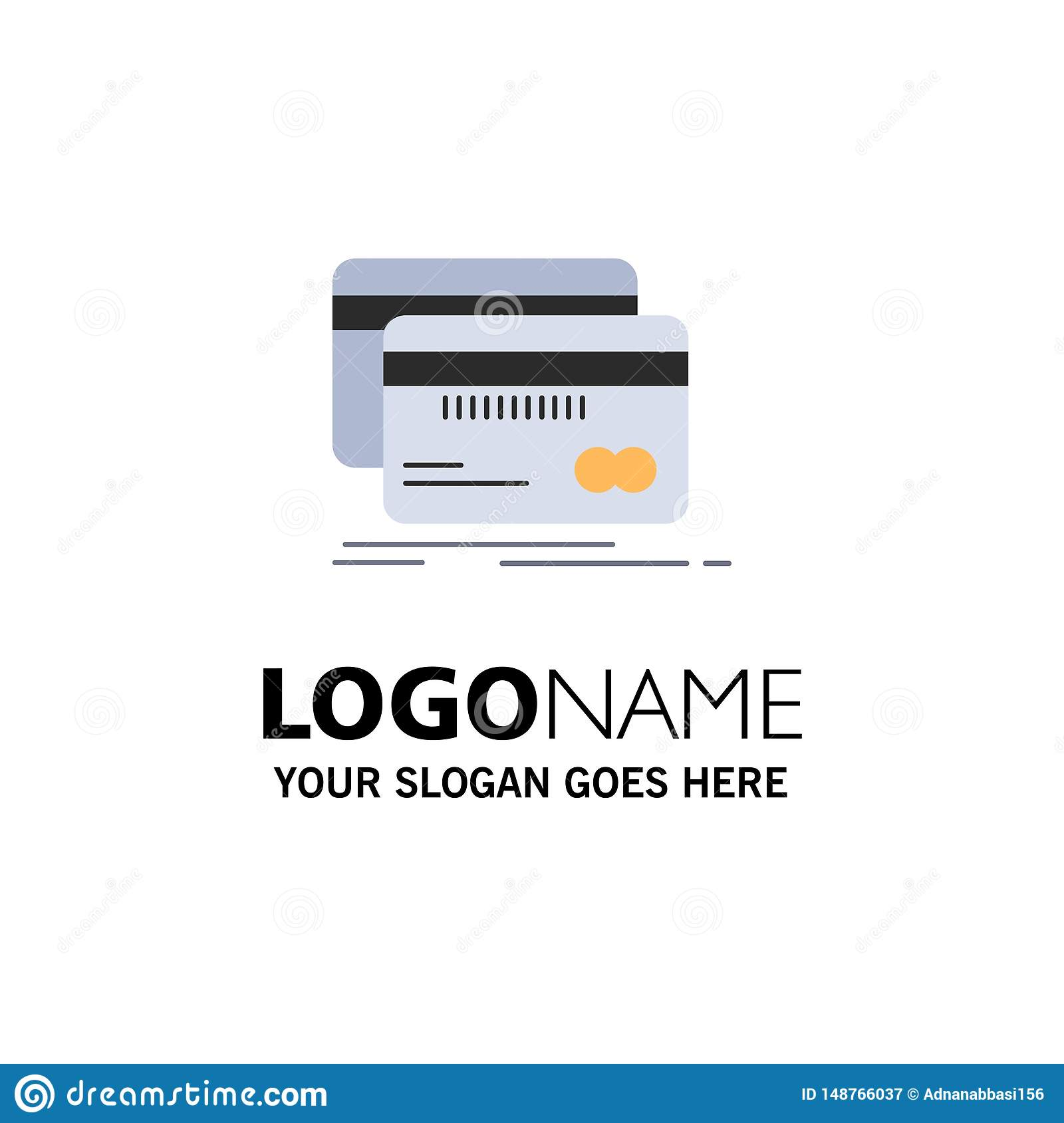 Banking, card, credit, debit, finance Flat Color Icon Vector