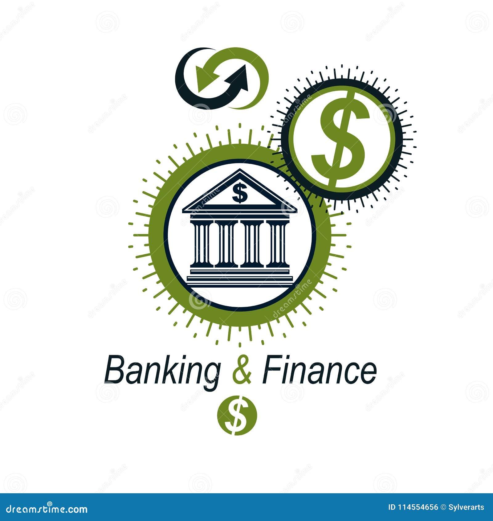 Banking Conceptual Logo Unique Vector Symbol Banking System T