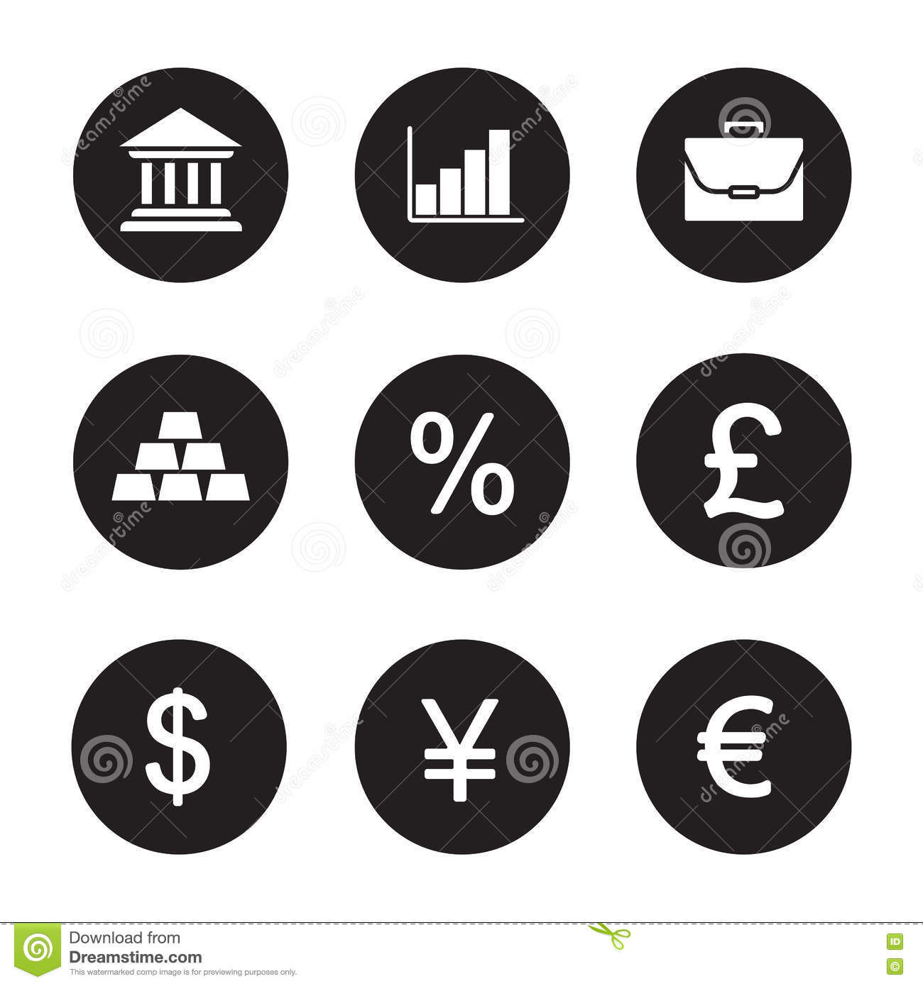 Banking and finance icons set stock vector illustration of chart banking and finance icons set biocorpaavc Gallery