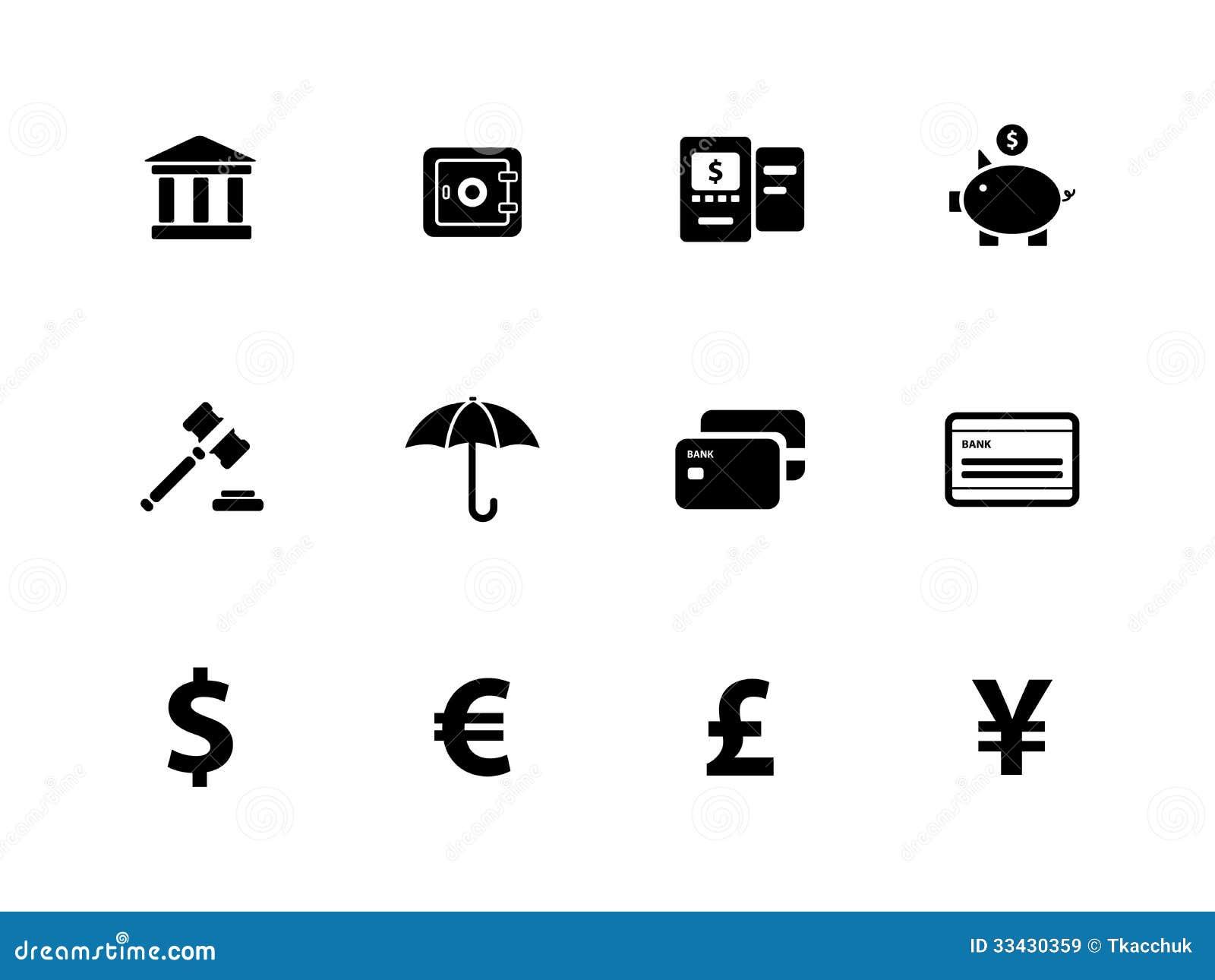 banking icons on white background  royalty free stock