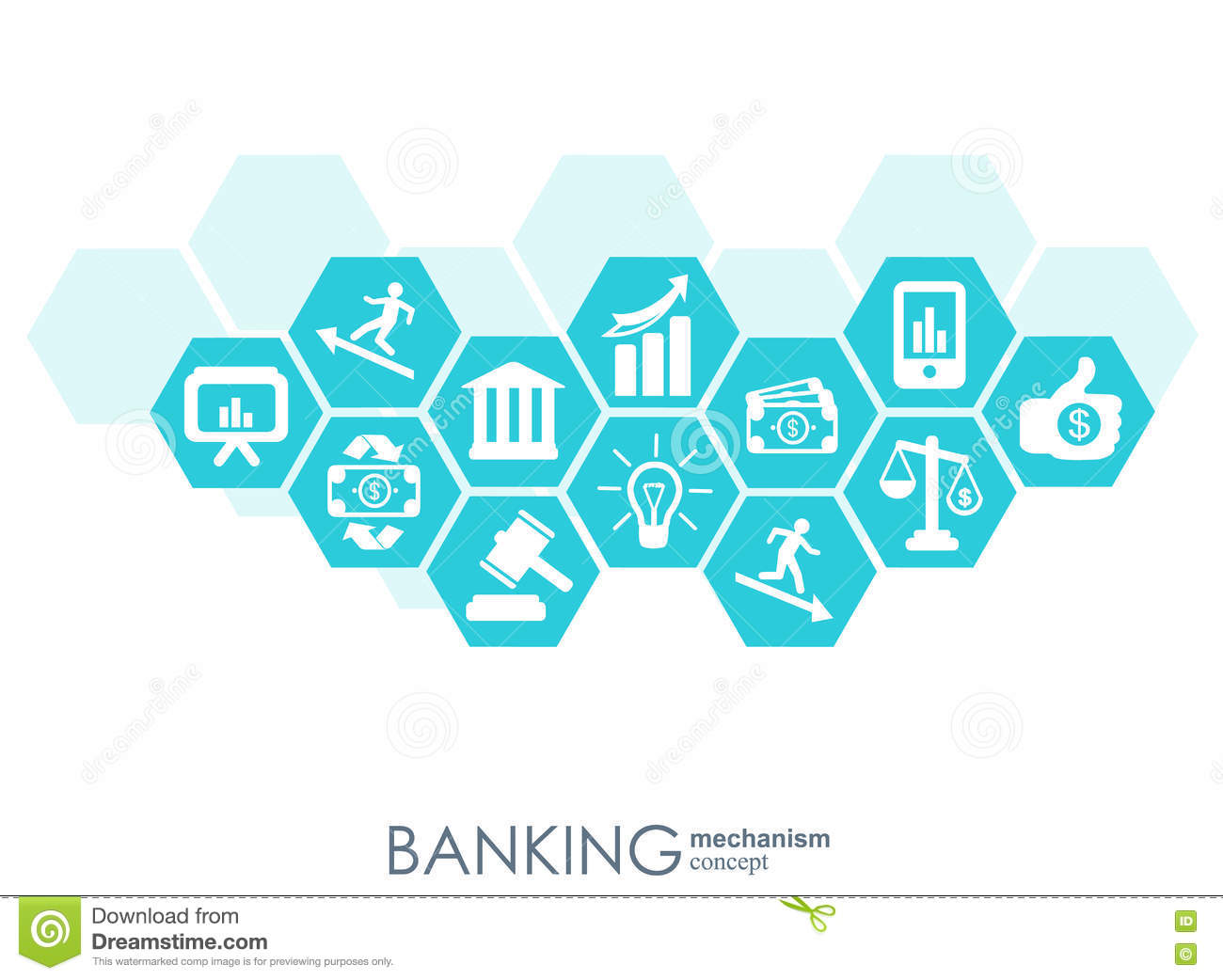 Banking Mechanism Abstract Background With Connected Gears And