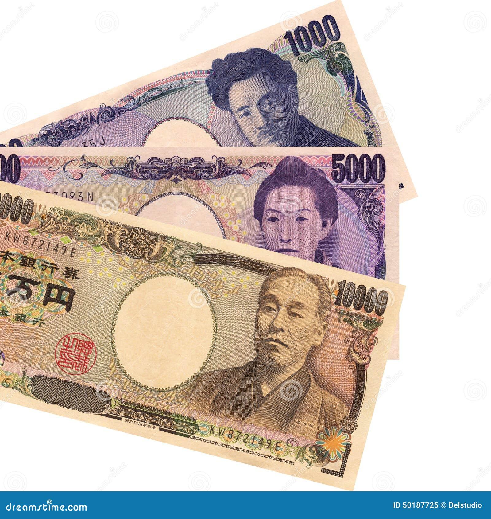 Banknoten der japanischen Yen