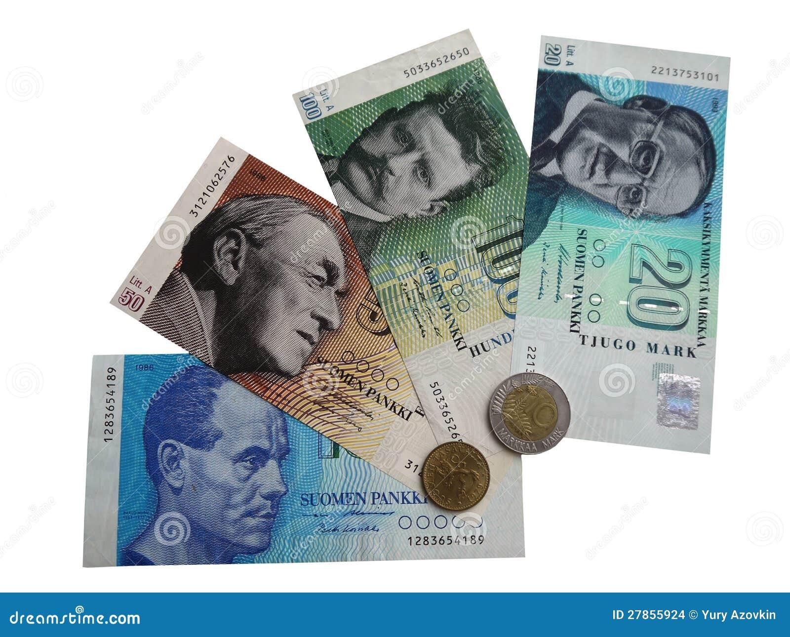 Banknoty i monety Finlandia fotografia (1)