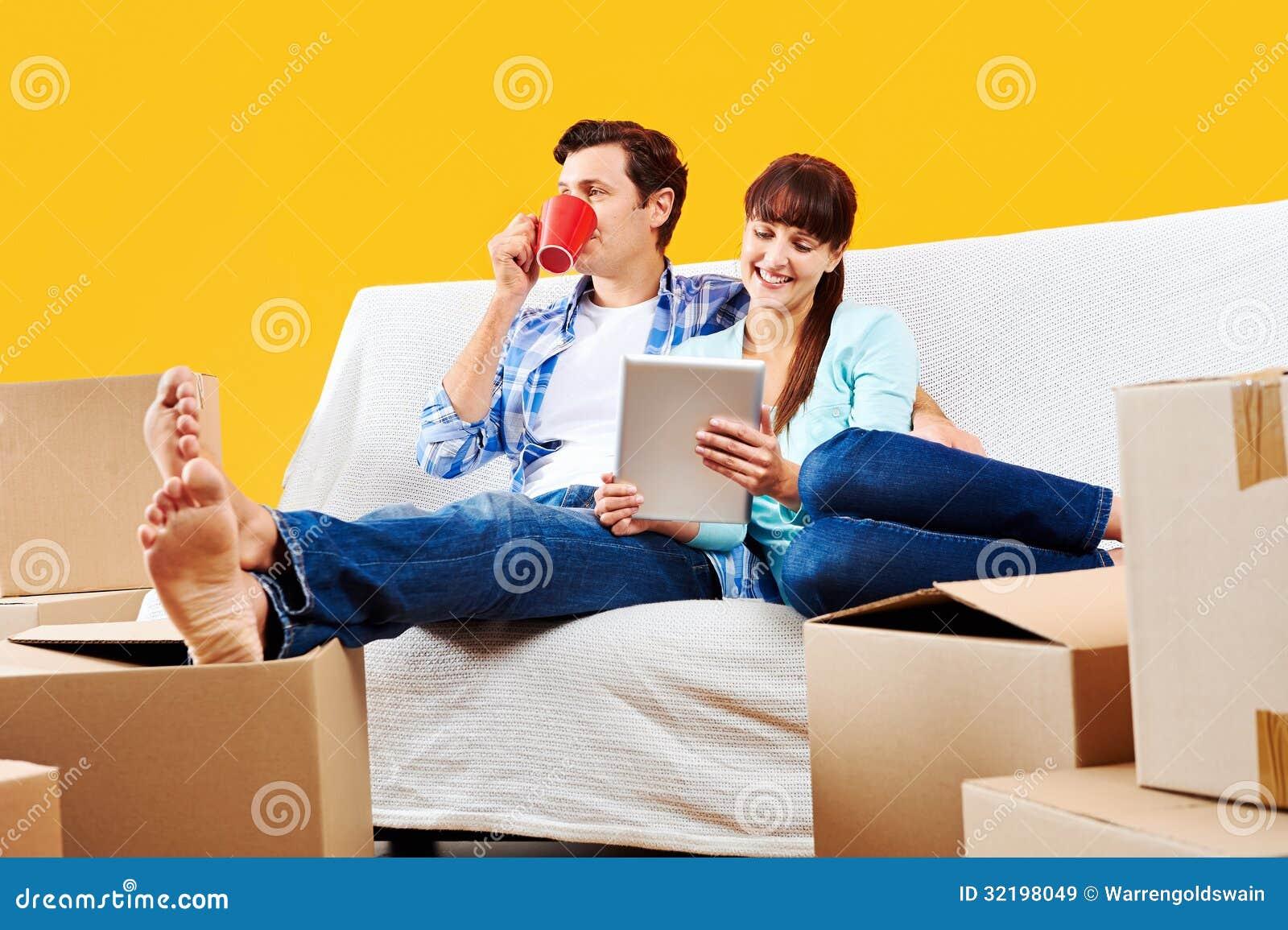 Bankpaar het ontspannen