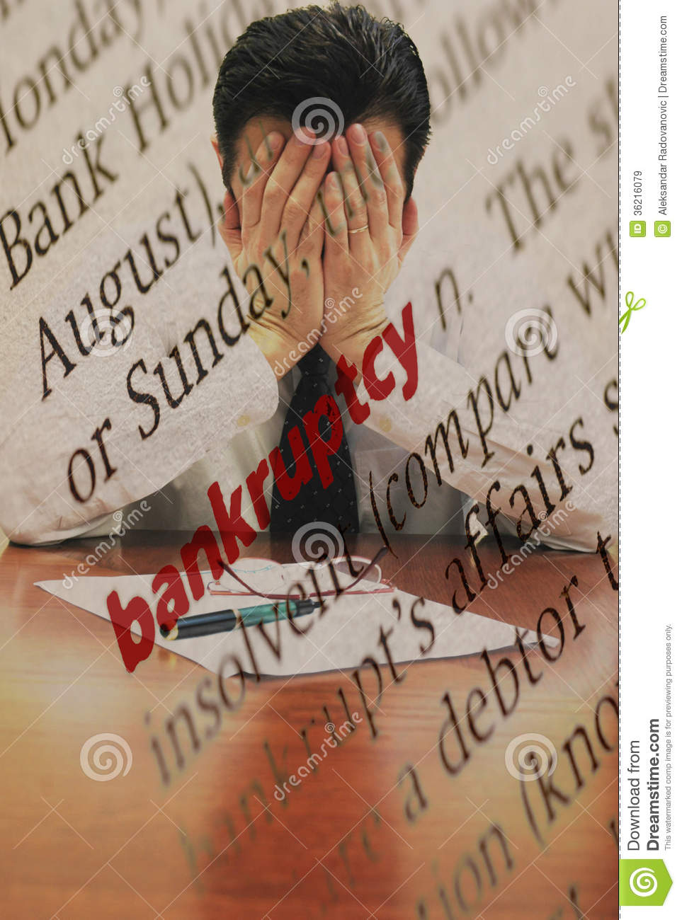 bankruptcy stock image. image of businessman, definition - 36216079
