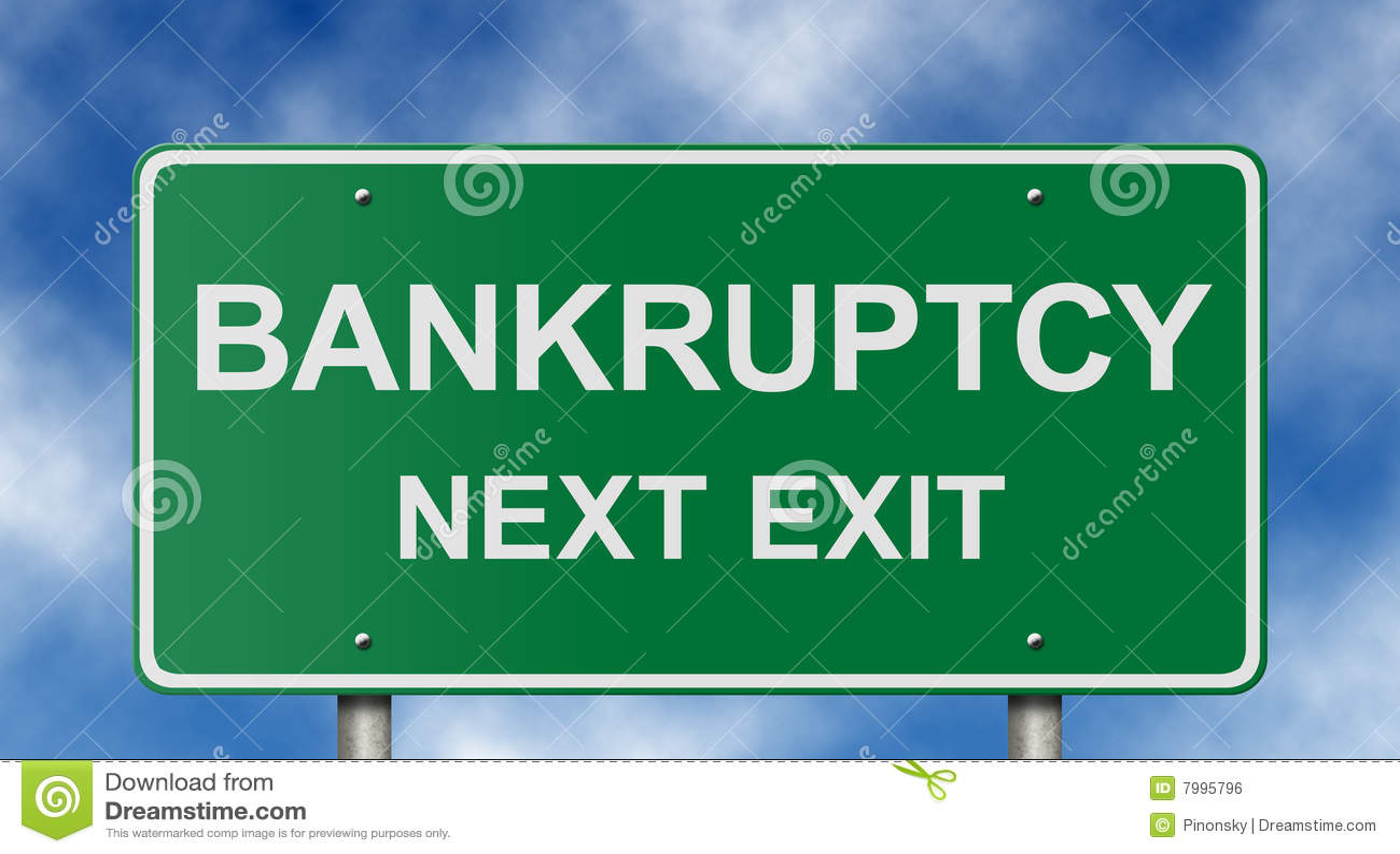 Bankruptcy Next Exit Sign