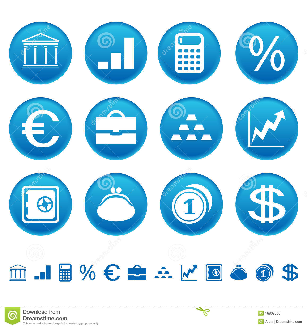 Banks & Finance Icons Royalty Free Stock Image - Image: 18802056