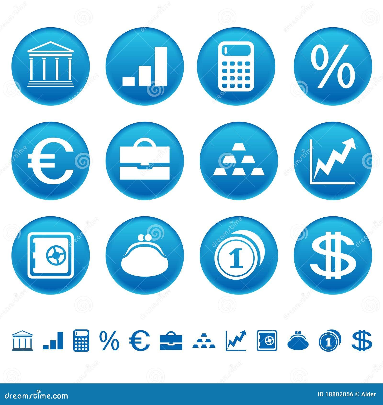 Banks & Finance Icons Royalty Free Stock Image - Image: 18802056