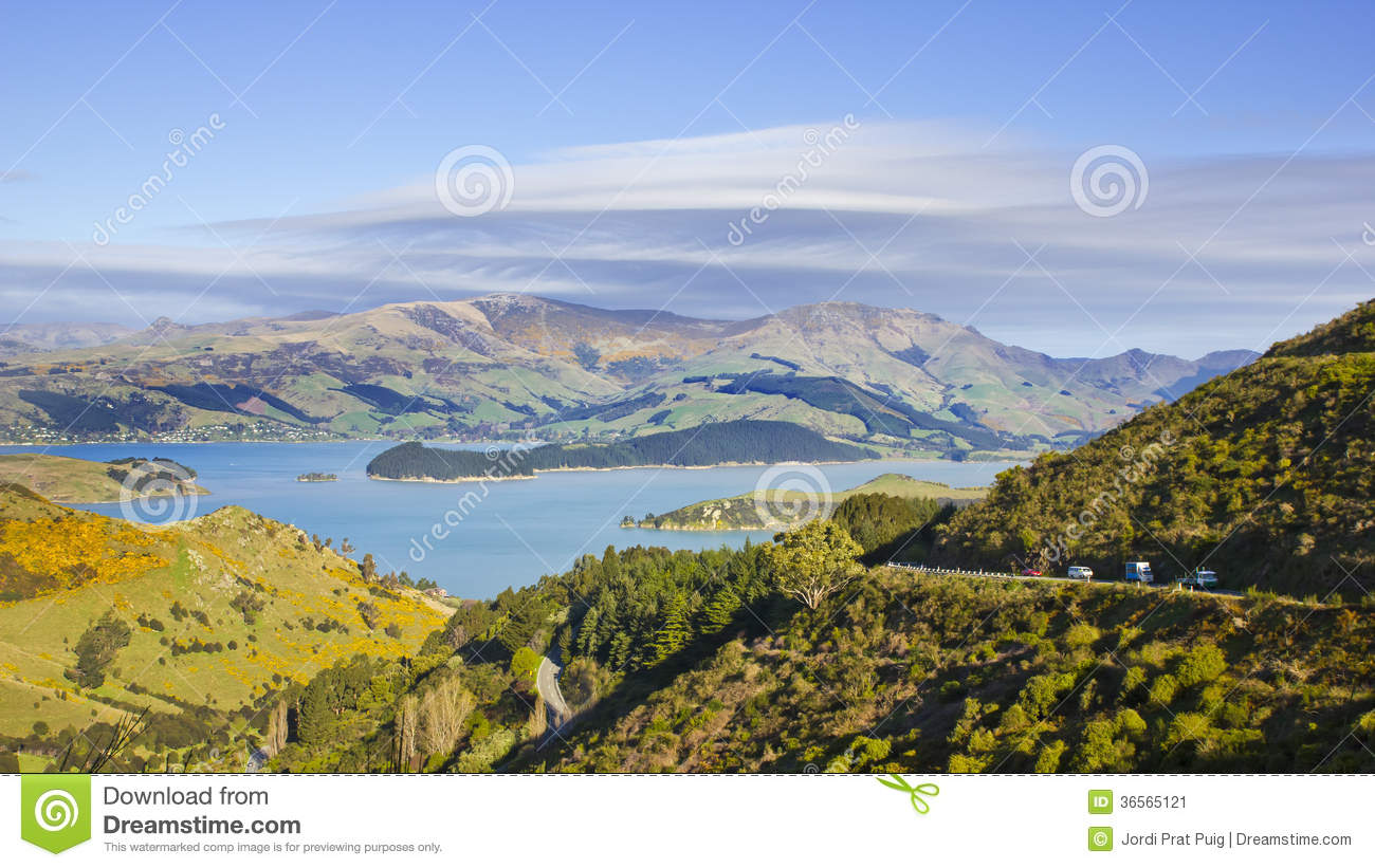 Banks peninsula stock image image 36565121 for Landscaping chch