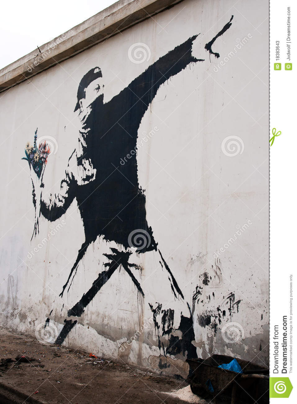Banksy In Palestine Editorial Stock Photo Image Of West