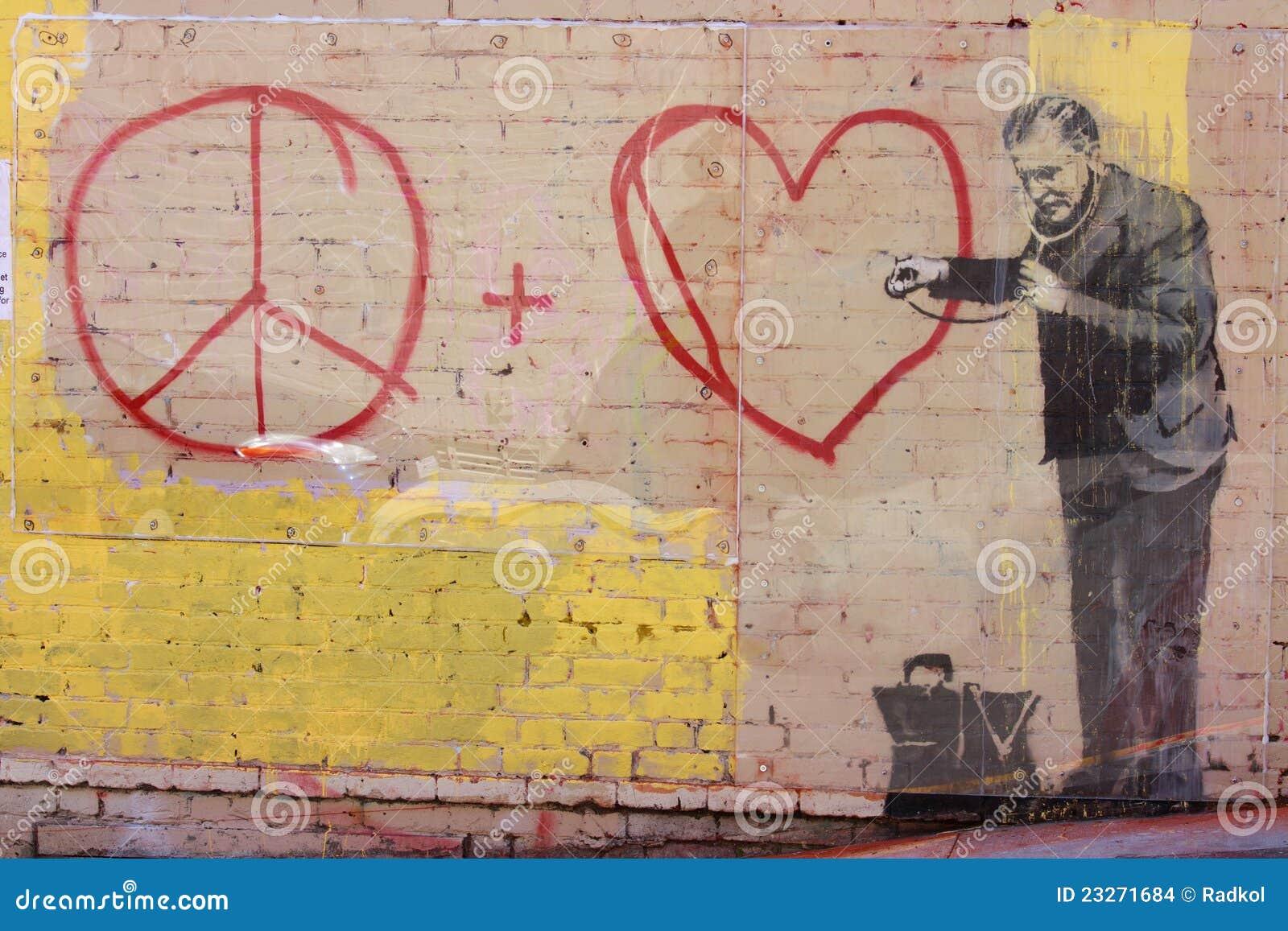 Banksy\'s graffiti editorial stock image. Image of reform - 23271684