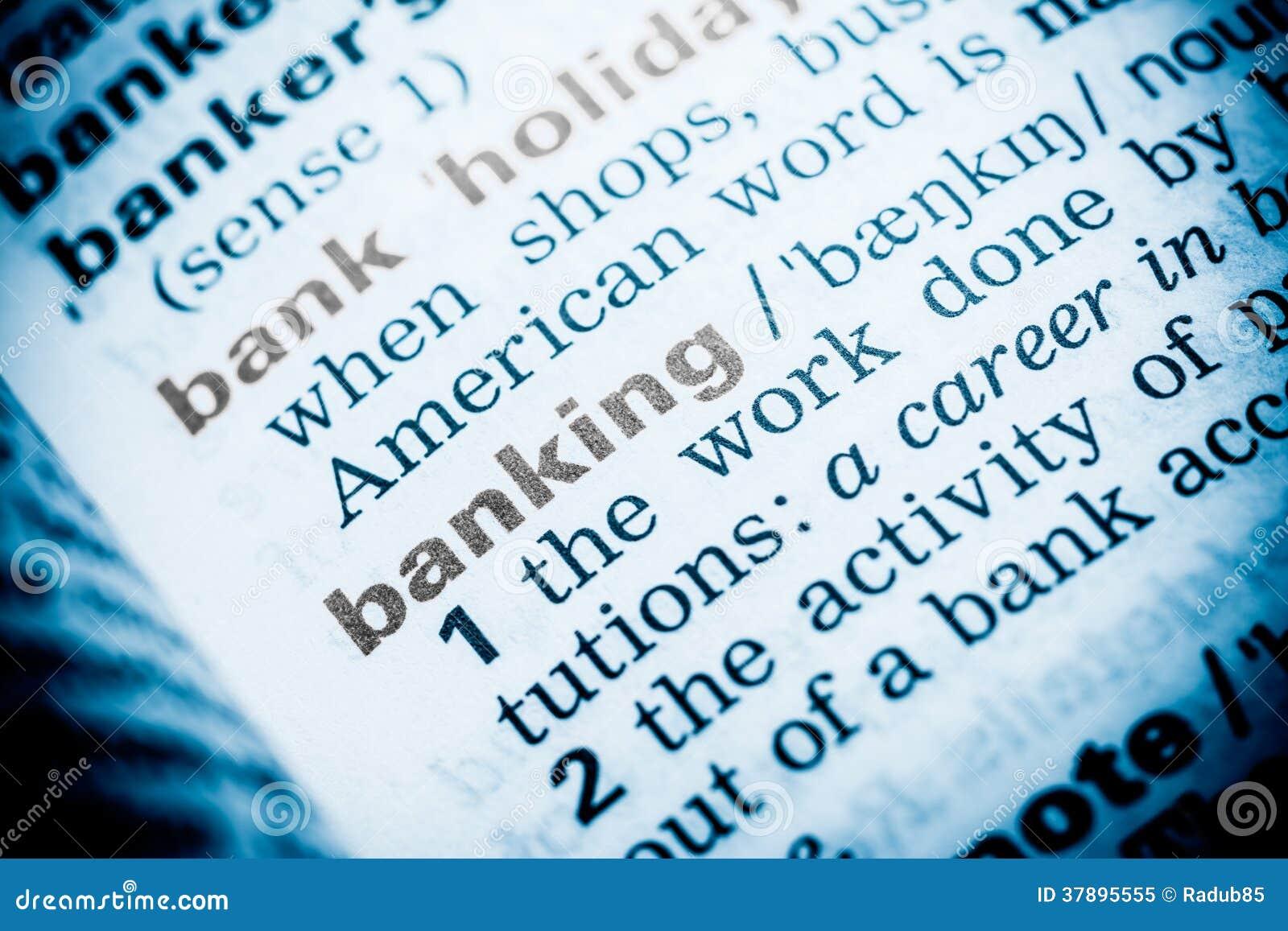 Bankwezenword Definitie