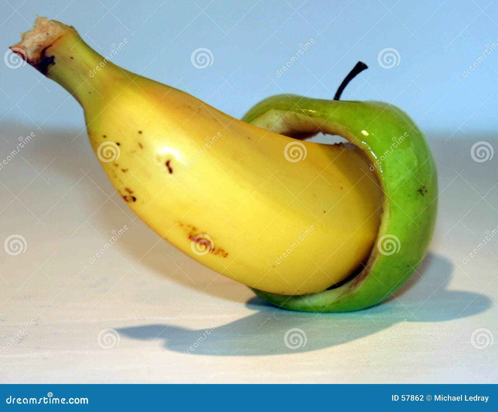 Bannana et pomme