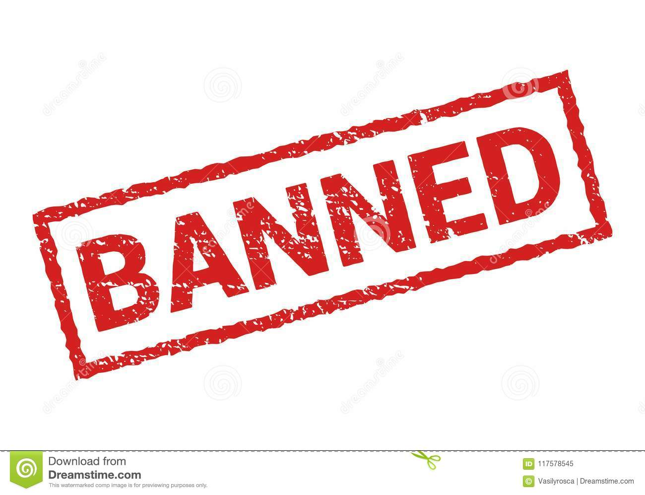 Vector sticker banned prohibition sign restricted or cancel design symbol