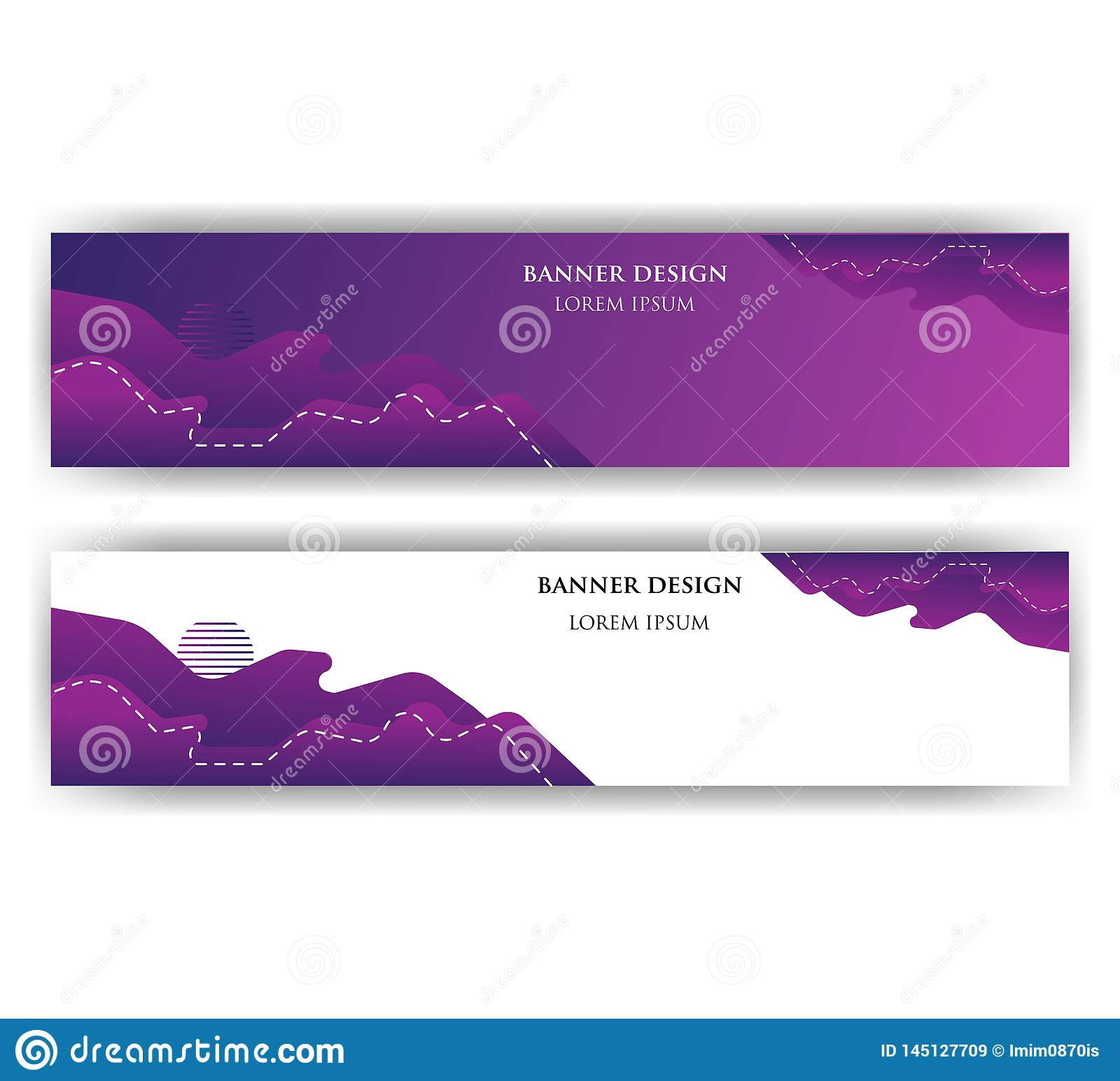 Banner with abstract design. The image can be used to design a banne
