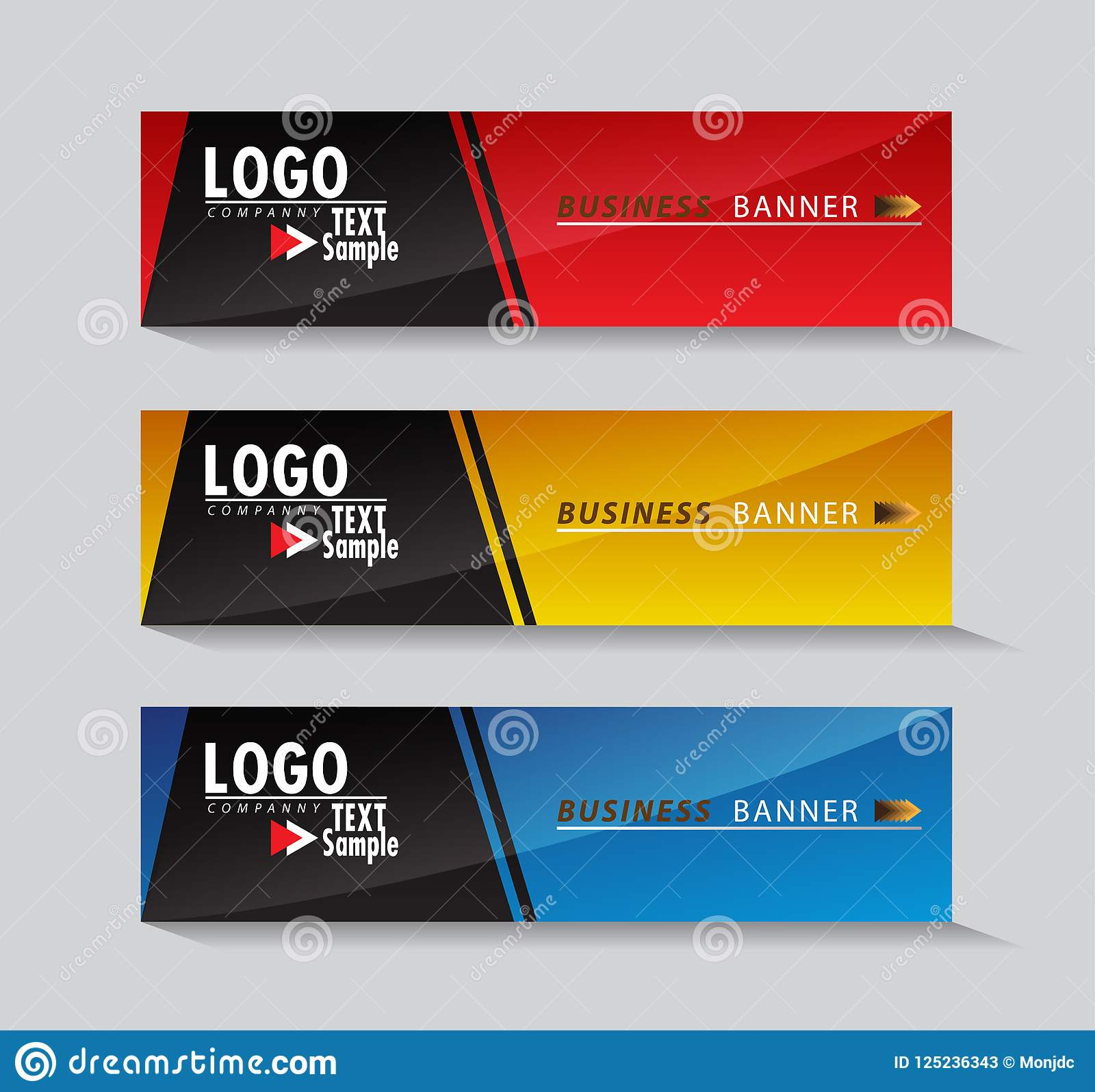 Abstract Web Banner Design Background Templates Stock ...