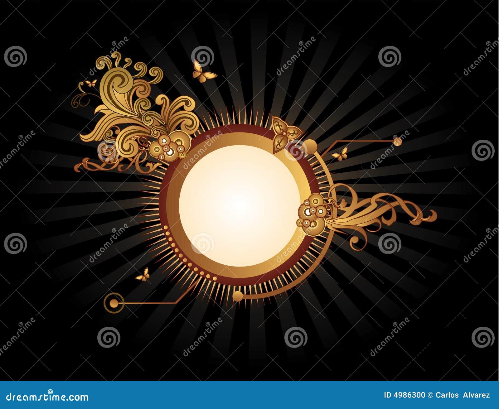 Banner abstrakcyjne złota wektora