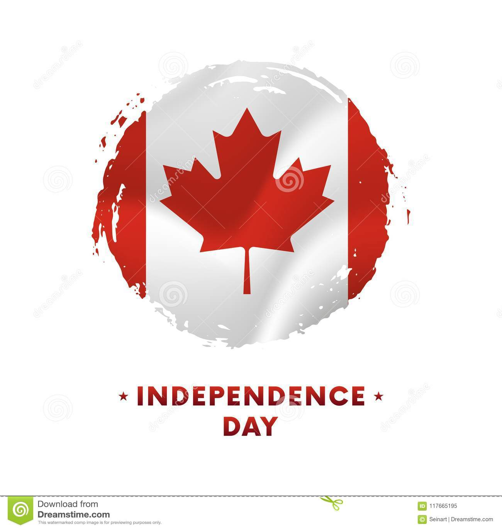 Banner of affiche van de viering van de de onafhankelijkheidsdag van Canada Golvende vlag van Canada, de achtergrond van de borst