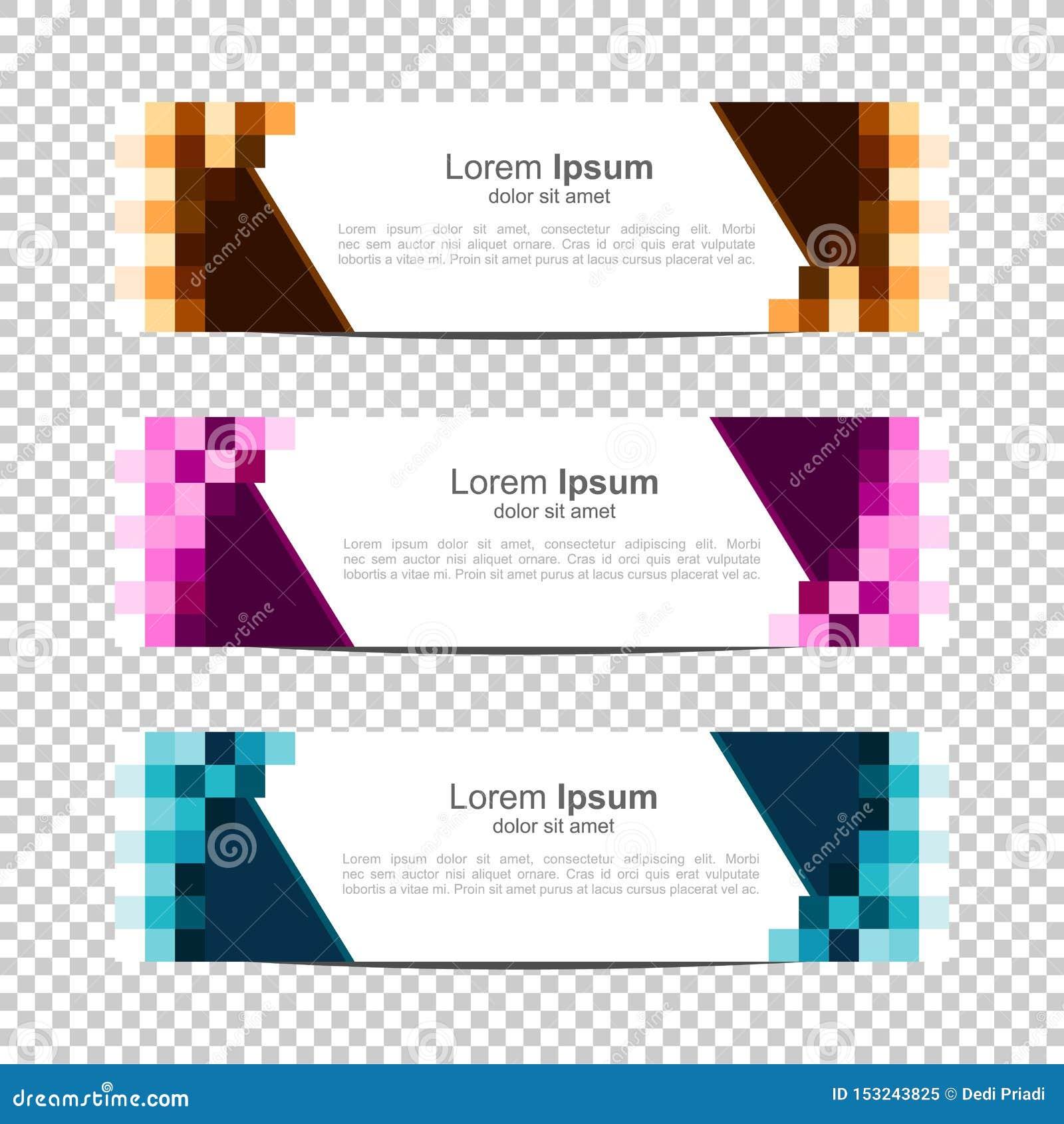 Banner Background Modern Template Design pixel,block,grid