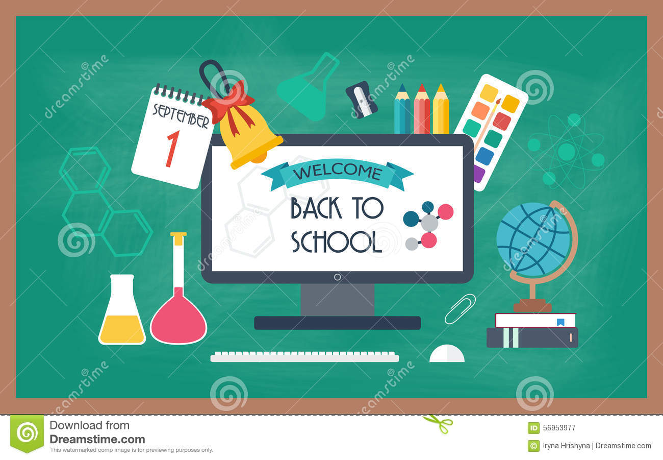 Education Poster Flat Design Stock Vector - Image: 75634285