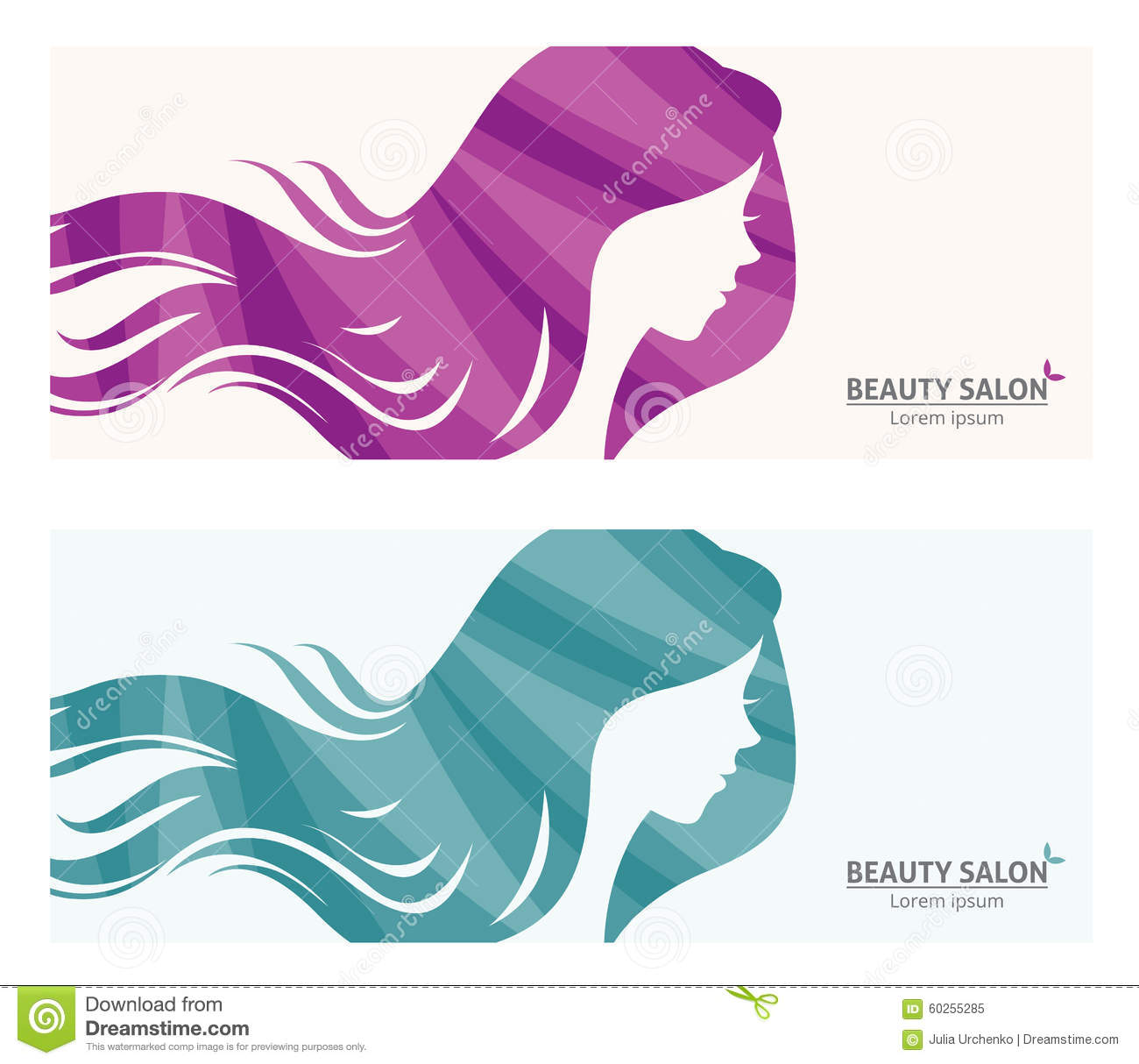 Banner or business card stylized woman profile for beauty salon banner or business card stylized woman profile for beauty salon royalty free vector magicingreecefo Images