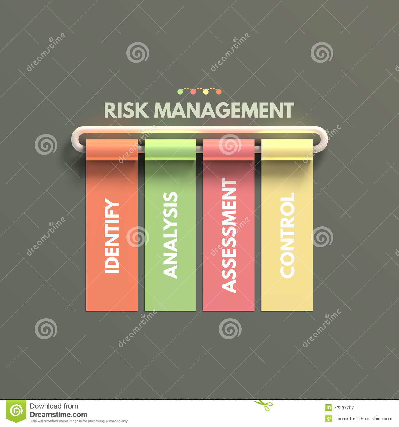 Banner Business Infographic Template  Risk Stock Vector