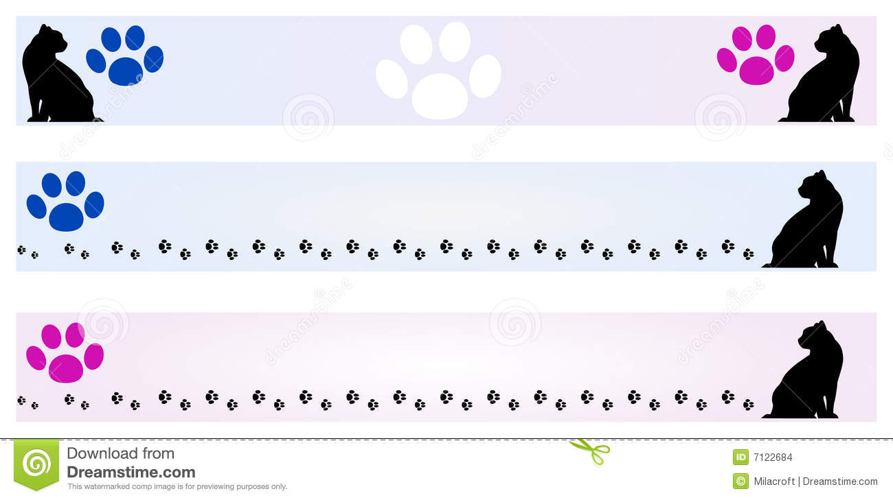 banner cat frames stock images