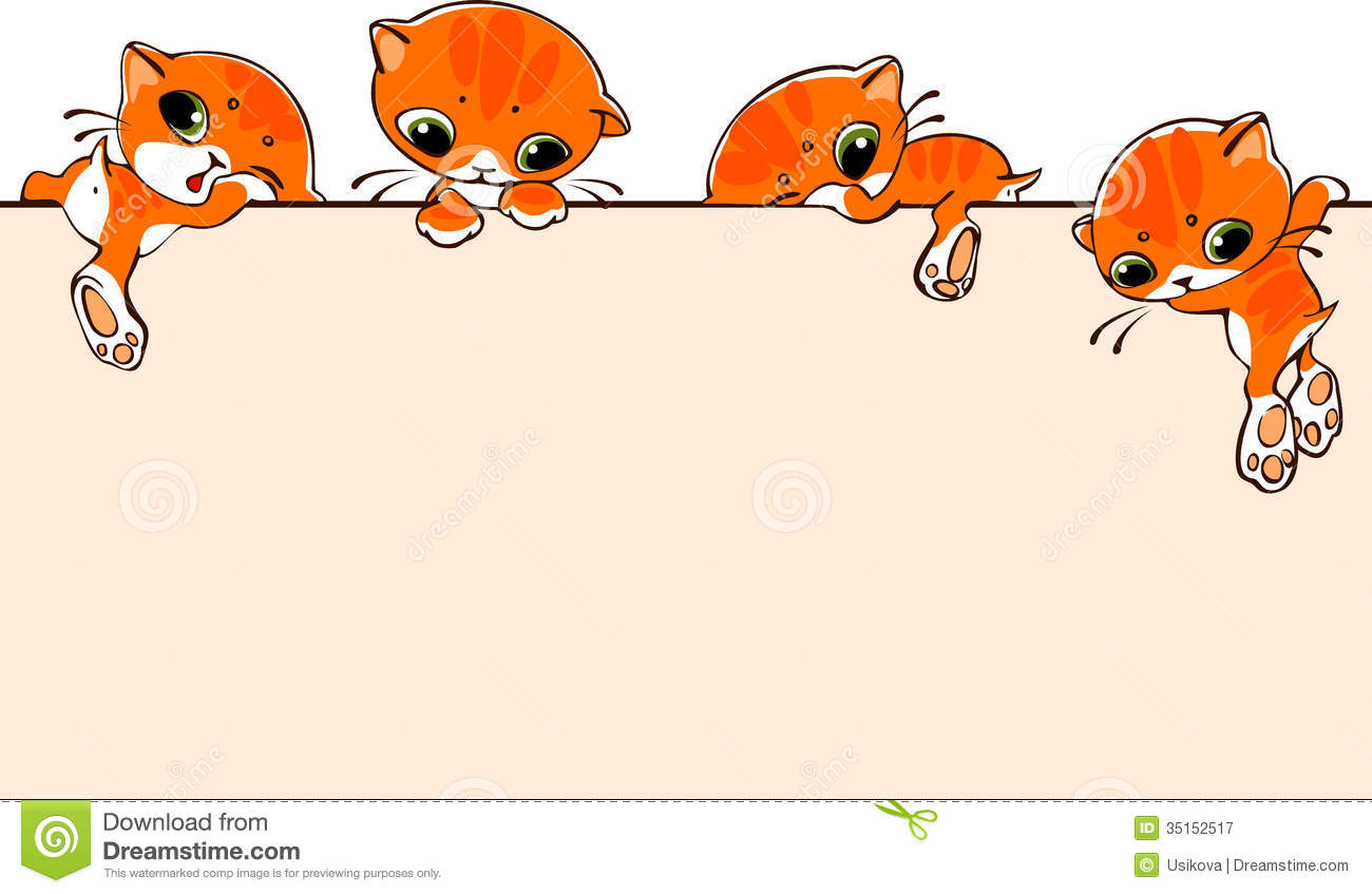 banner with cats royalty free stock photography