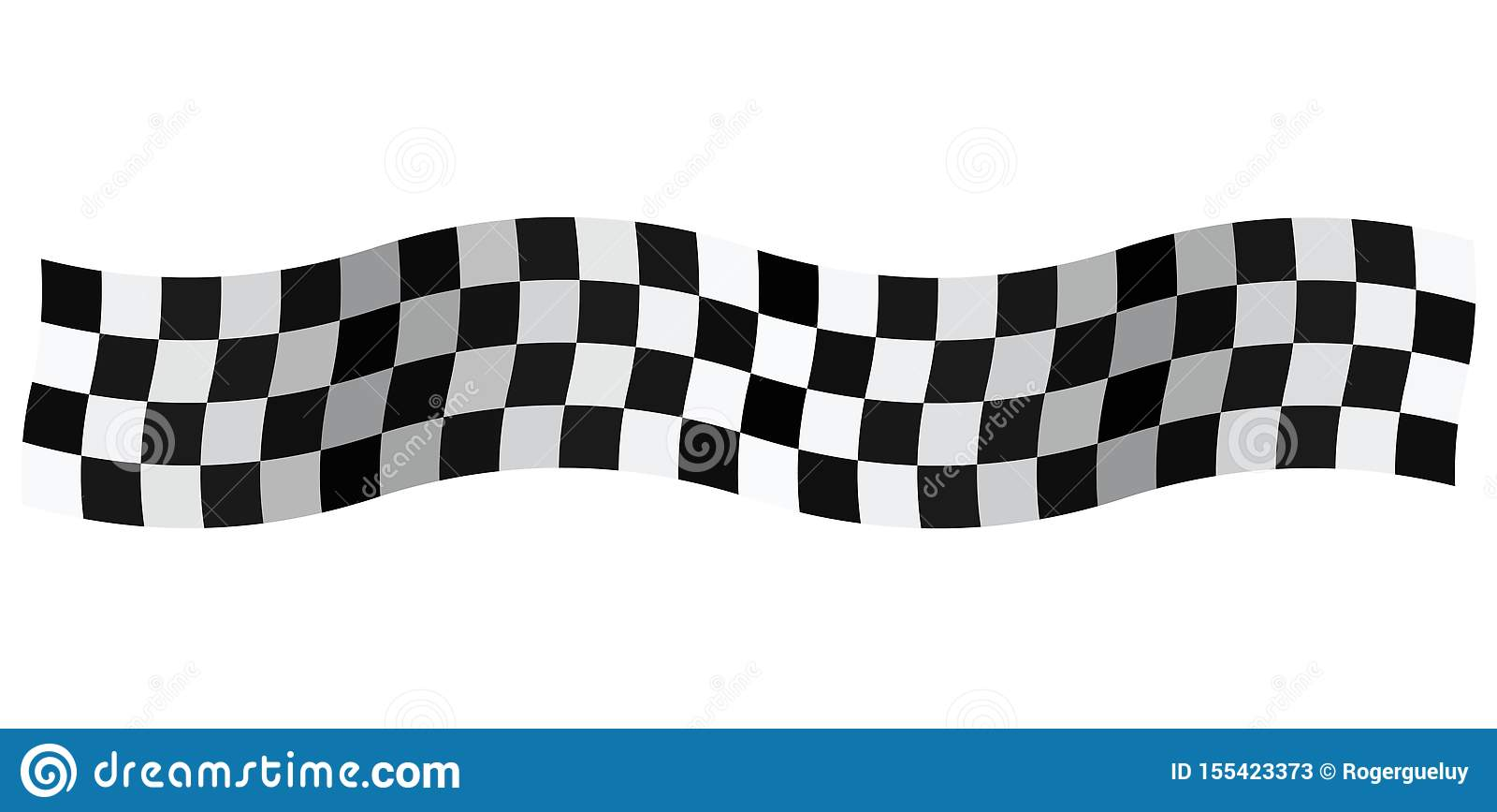 Banner Checkered Flag Isolated On White Background Stock Vector Illustration Of Prevent Banner 155423373