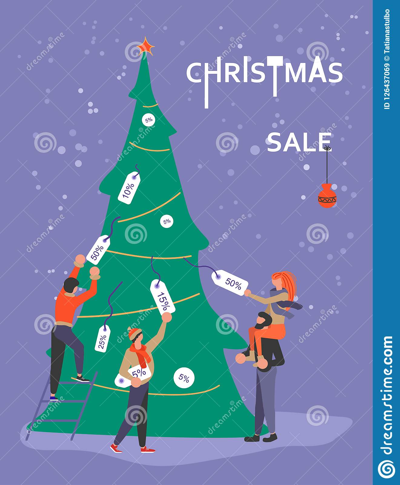 Banner For Christmas Sale Stock Vector Illustration Of Business
