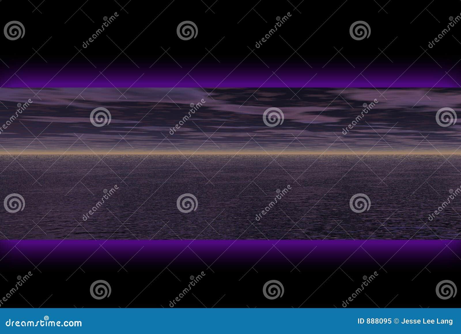 Banner ciemności krajobrazu