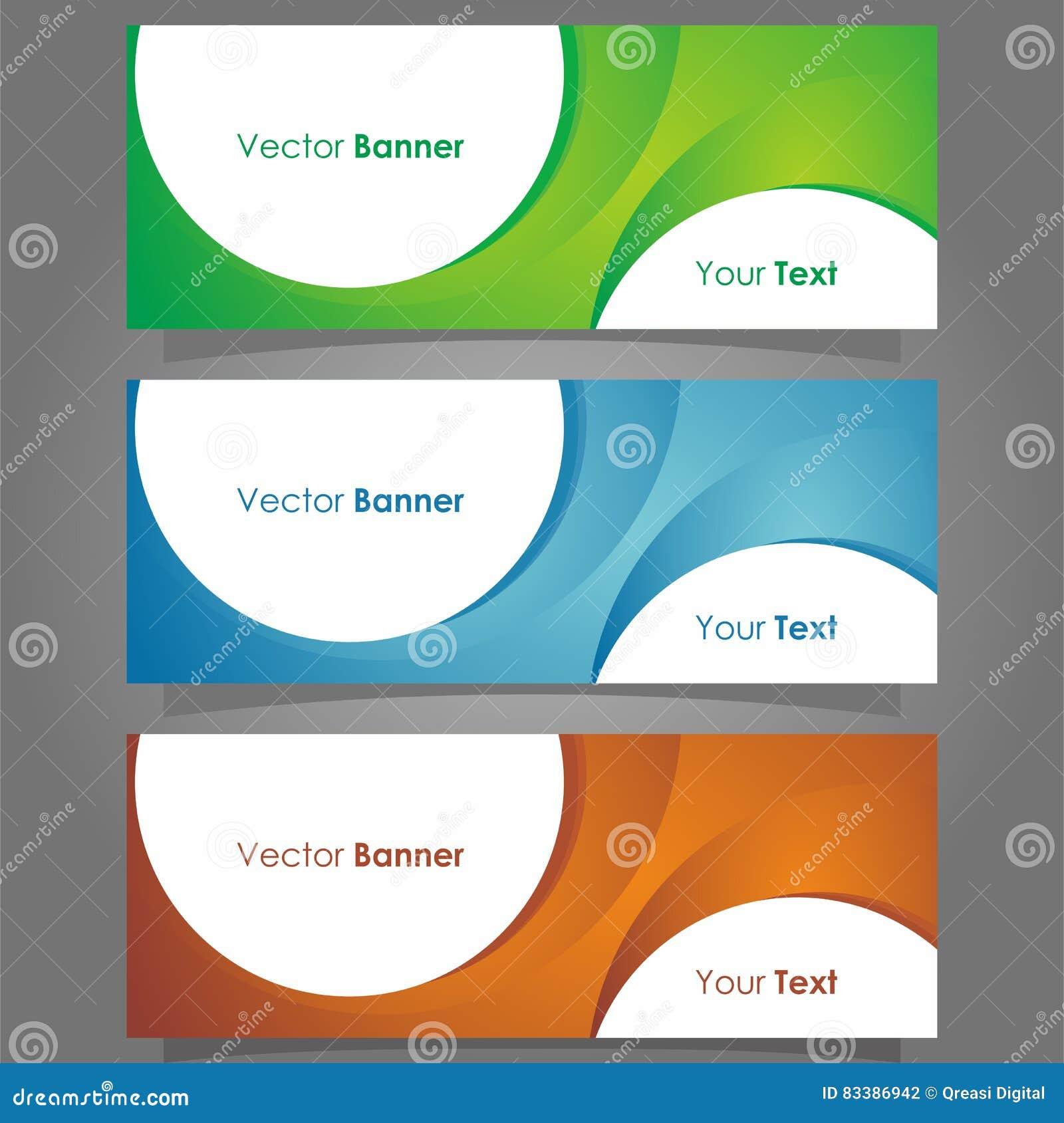 Banner Circle Stock Vector Image 83386942