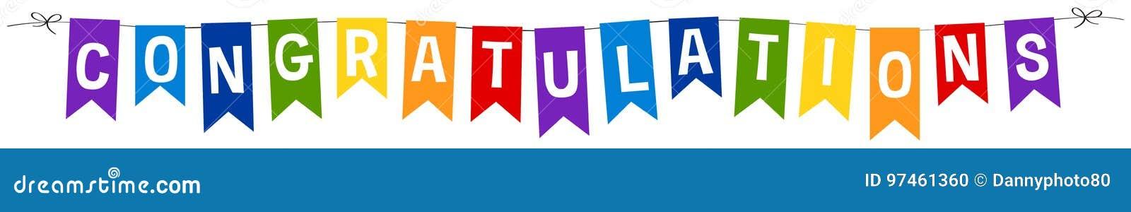 Banner design for congratulations