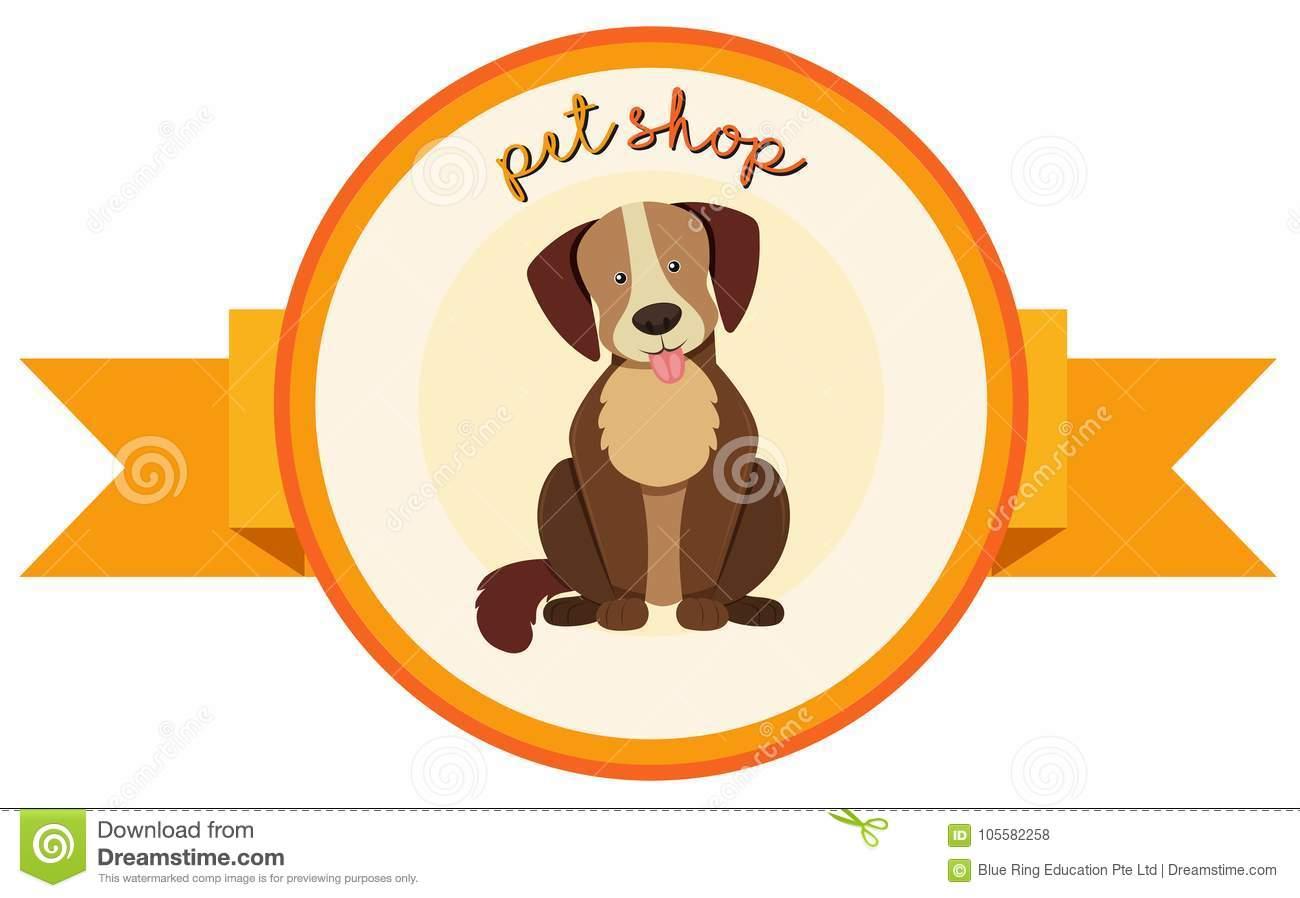 Banner Design For Pet Shop With Cute Dog Stock Vector Illustration
