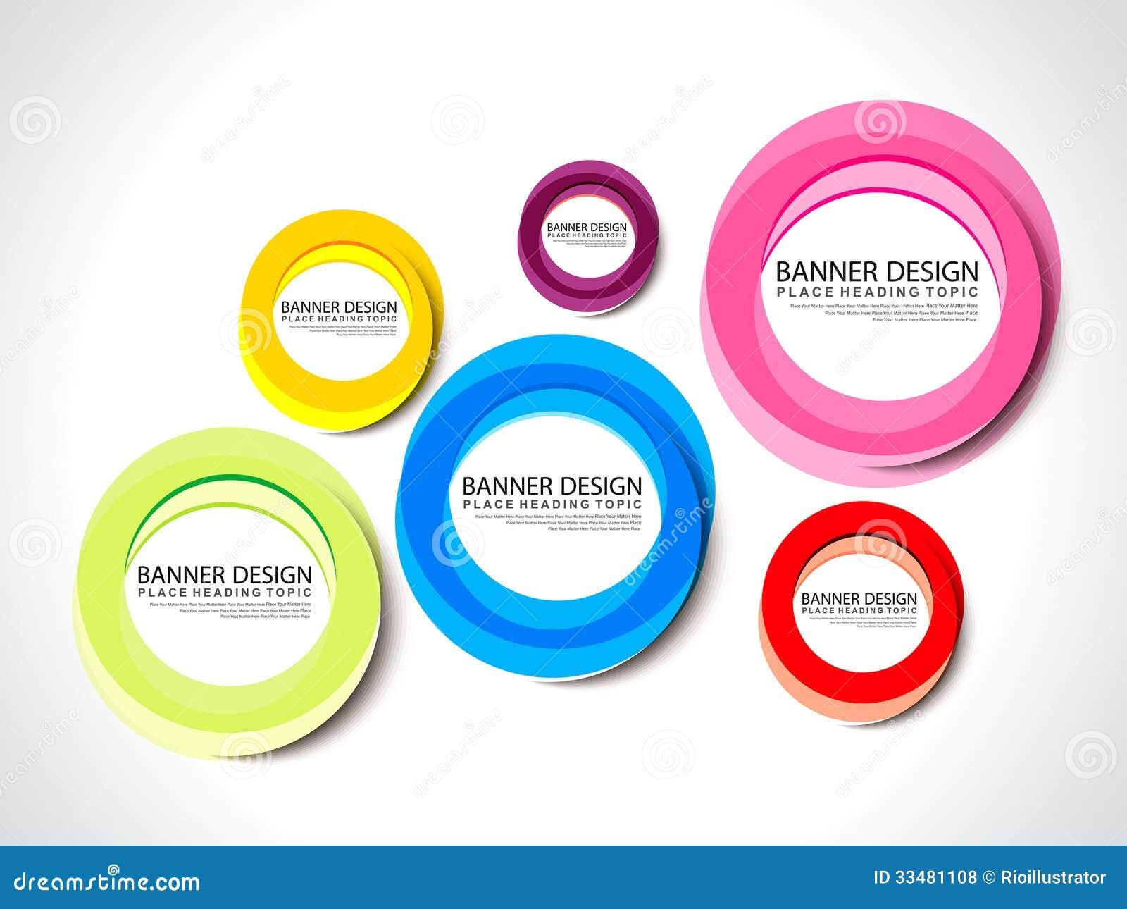 Banner Design Wtih Colorful Circle Stock Vector