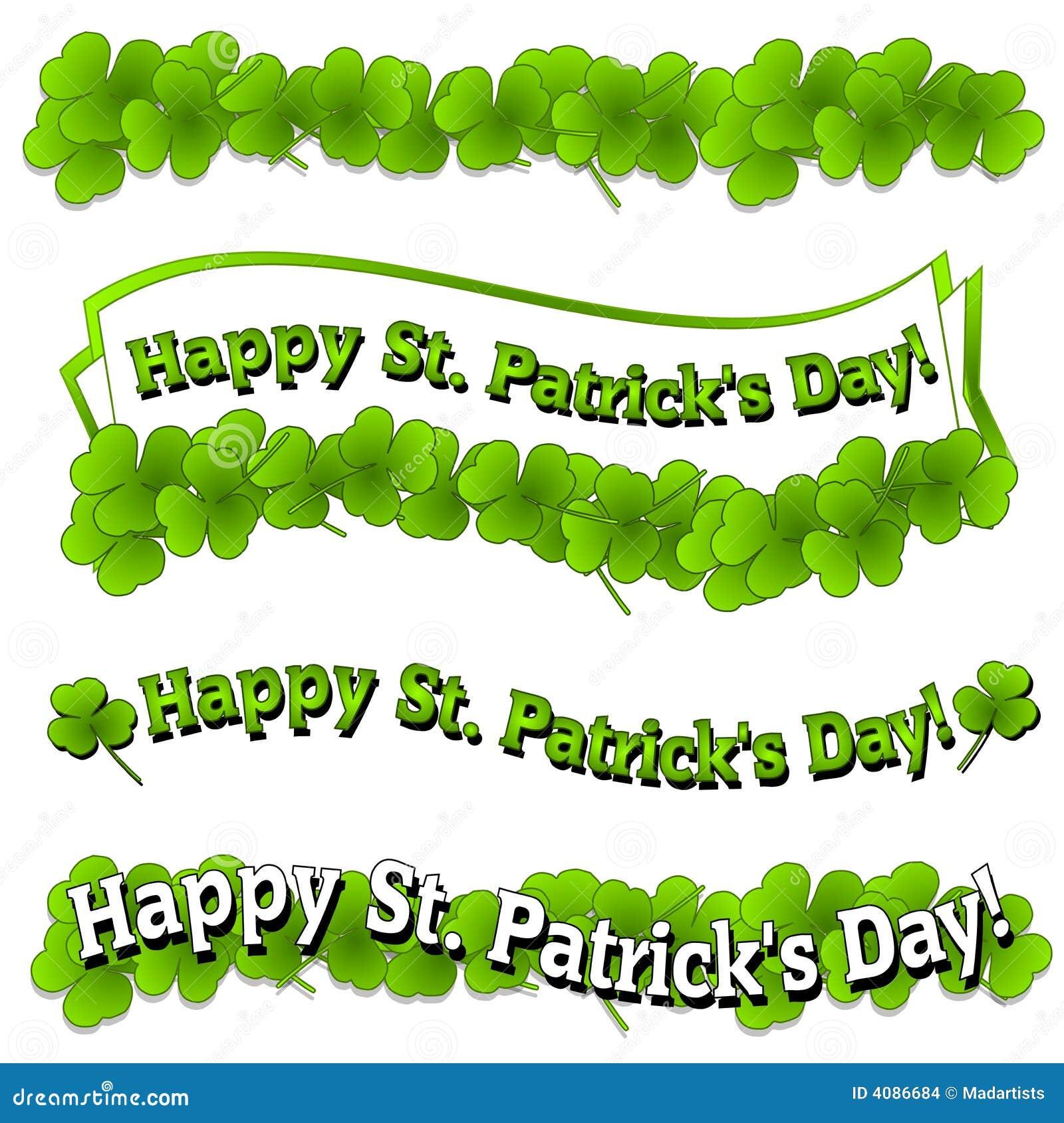 Banner dnia Patrick logo jest szczęśliwy st.