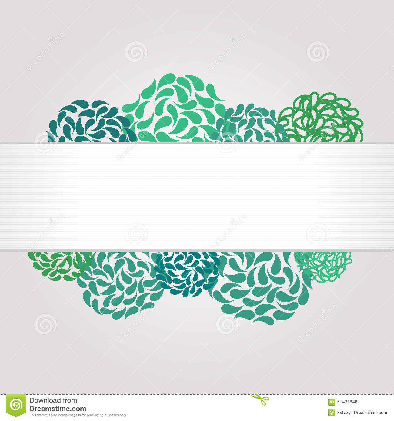 Banner and frame for web design stock vector for Abstract beauty salon