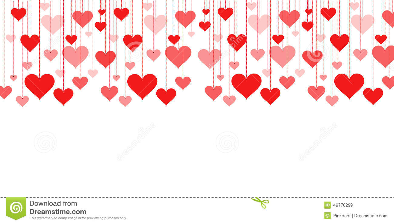 Banner Of A Garland Of Hearts Background Valentine S Day Wedding